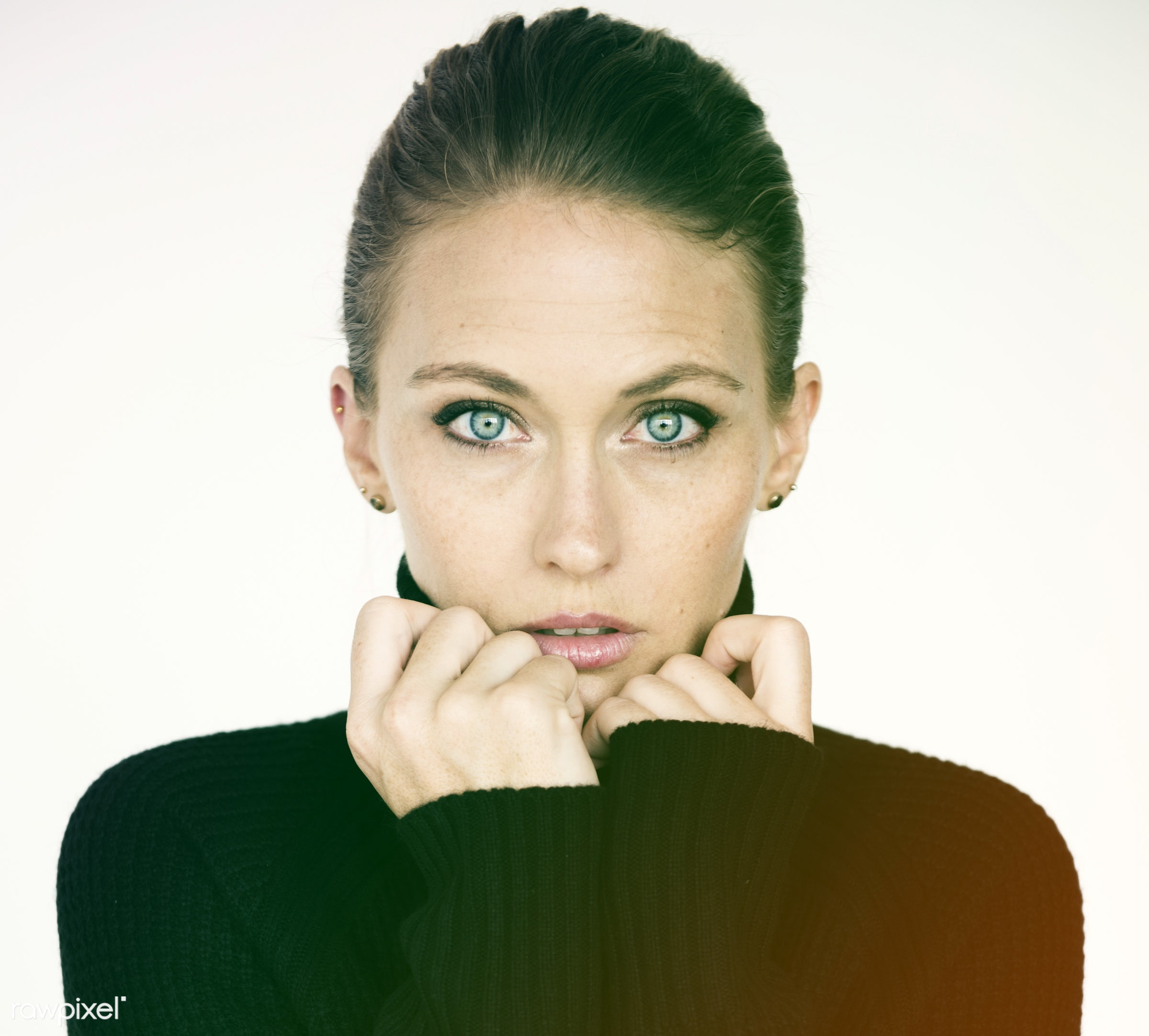 studio, expression, person, people, caucasian, modelnationality, woman, lifestyle, positive, cheerful, isolated, white,...