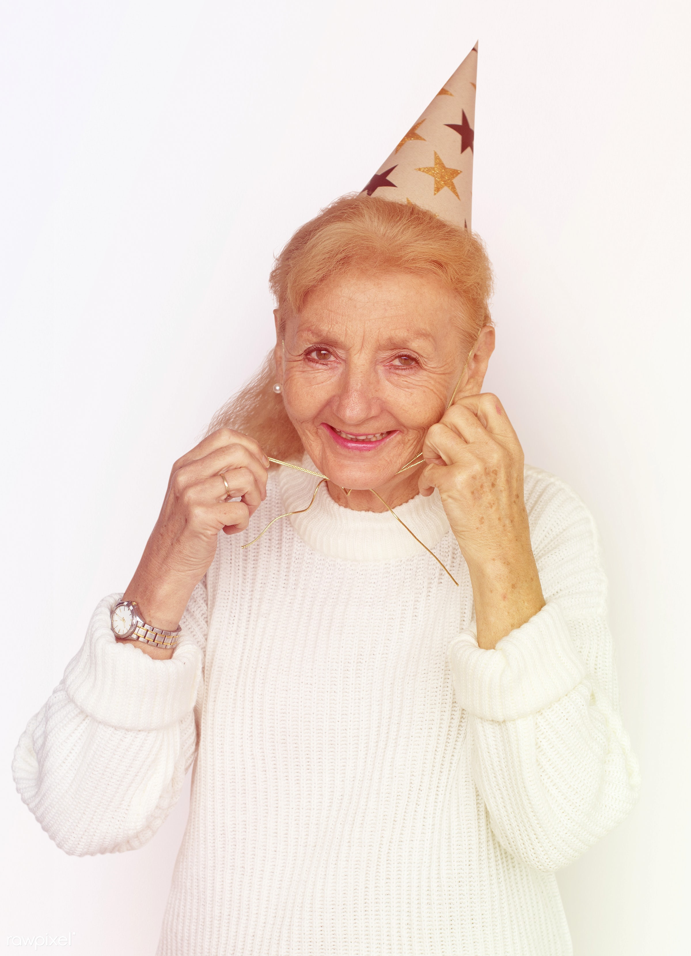 studio, expression, old, person, party, race, people, caucasian, hat, retirement, woman, event, westerner, positive,...