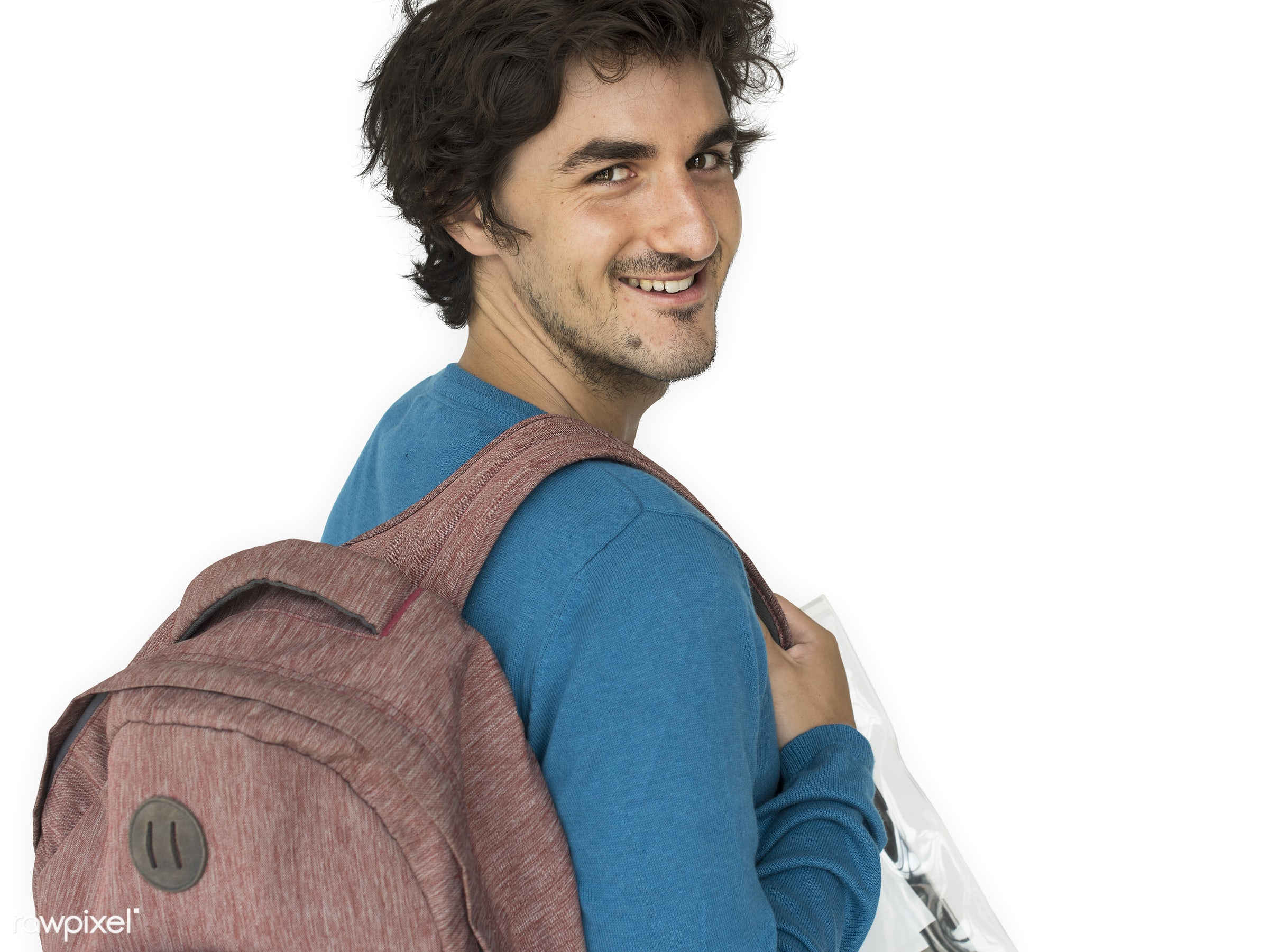 studio, expression, pastel, person, eart tones, vibrant, people, caucasian, lifestyle, schoolbag, positive, smile, cheerful...