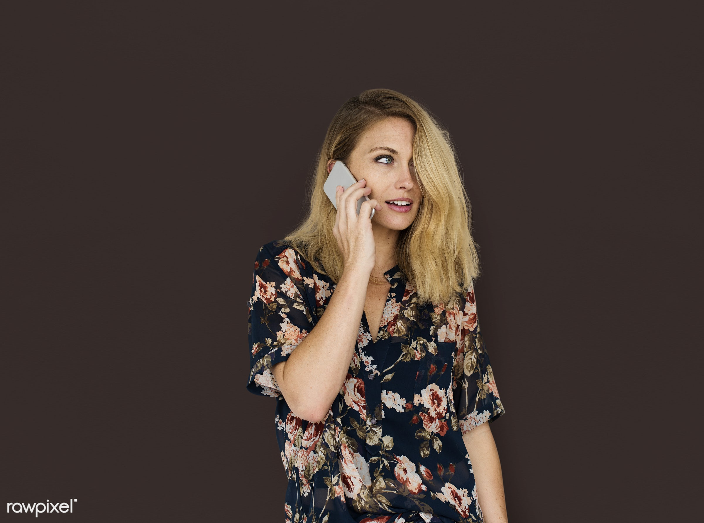 expression, studio, using, person, discussion, single, people, caucasian, telecommunication, woman, lifestyle, mobile phone...