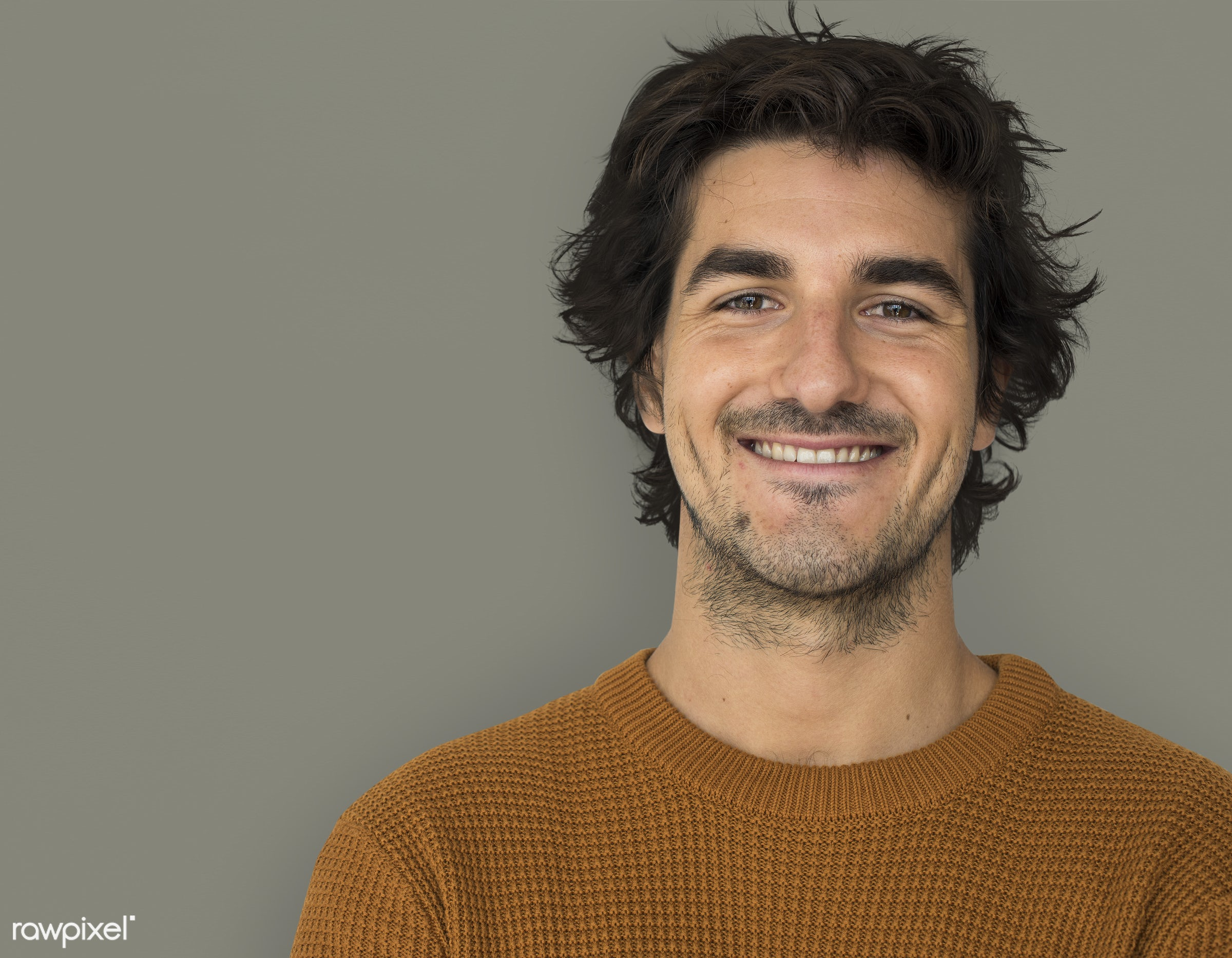 studio, expression, earth tone, pastel, person, people, caucasian, lifestyle, smile, positive, cheerful, isolated, happiness...