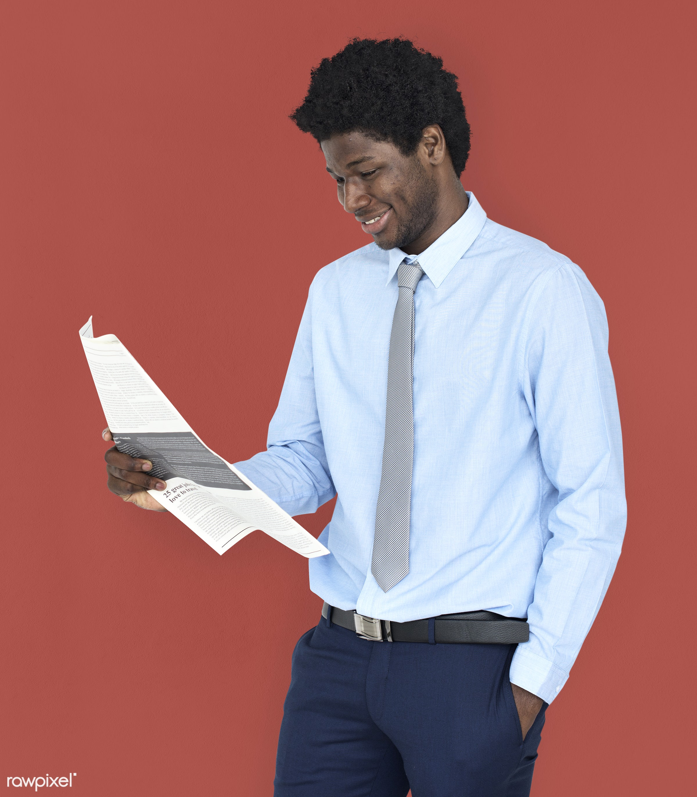 expression, person, reading, white collar worker, people, city, working, black, isolated, information, newsletter, african...