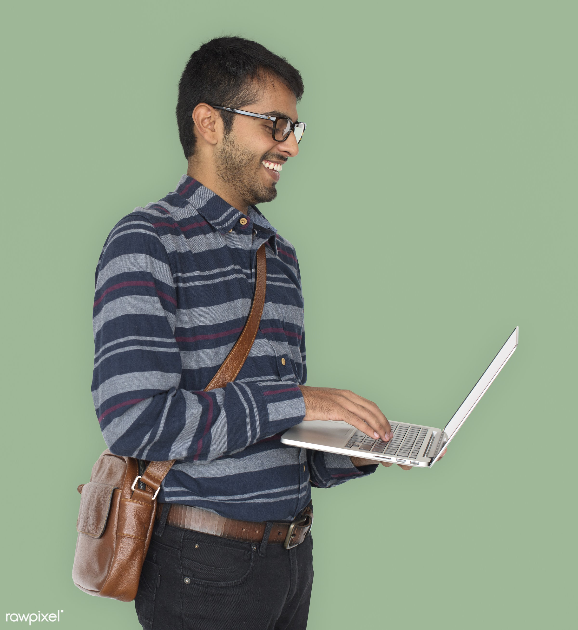 studio, expression, pastel, person, technology, holding, people, asian, lifestyle, laptop, positive, smile, cheerful,...