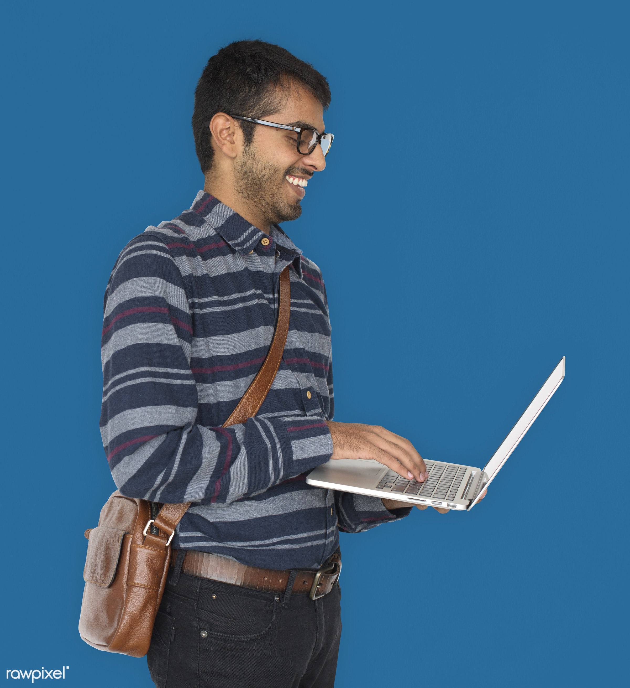 studio, expression, person, technology, holding, vibrant, people, asian, lifestyle, laptop, positive, smile, cheerful,...