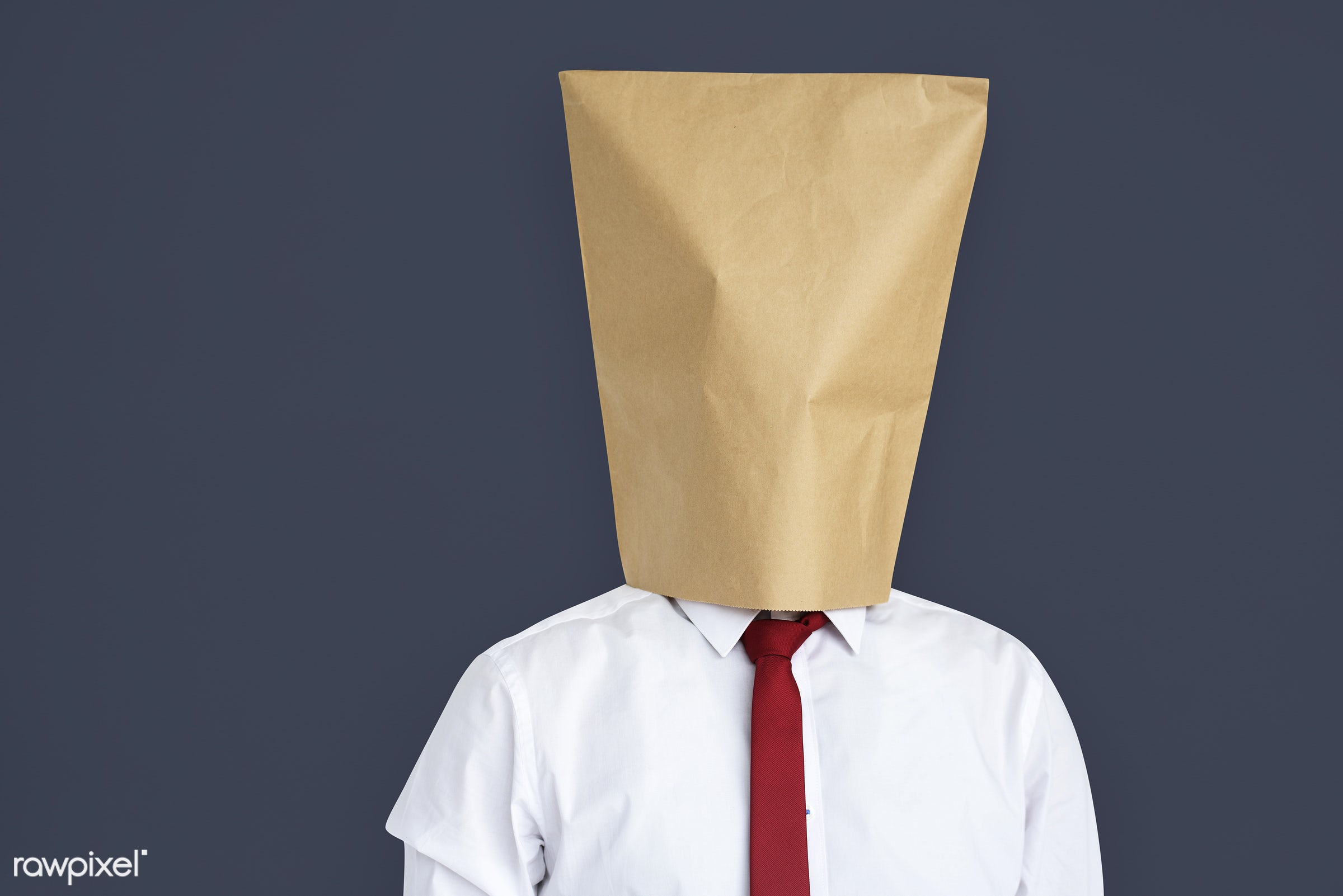 studio, shame, person, loss, sadness, ashamed, people, cover, businessman, man, humiliated, isolated, embarrassment, bag,...