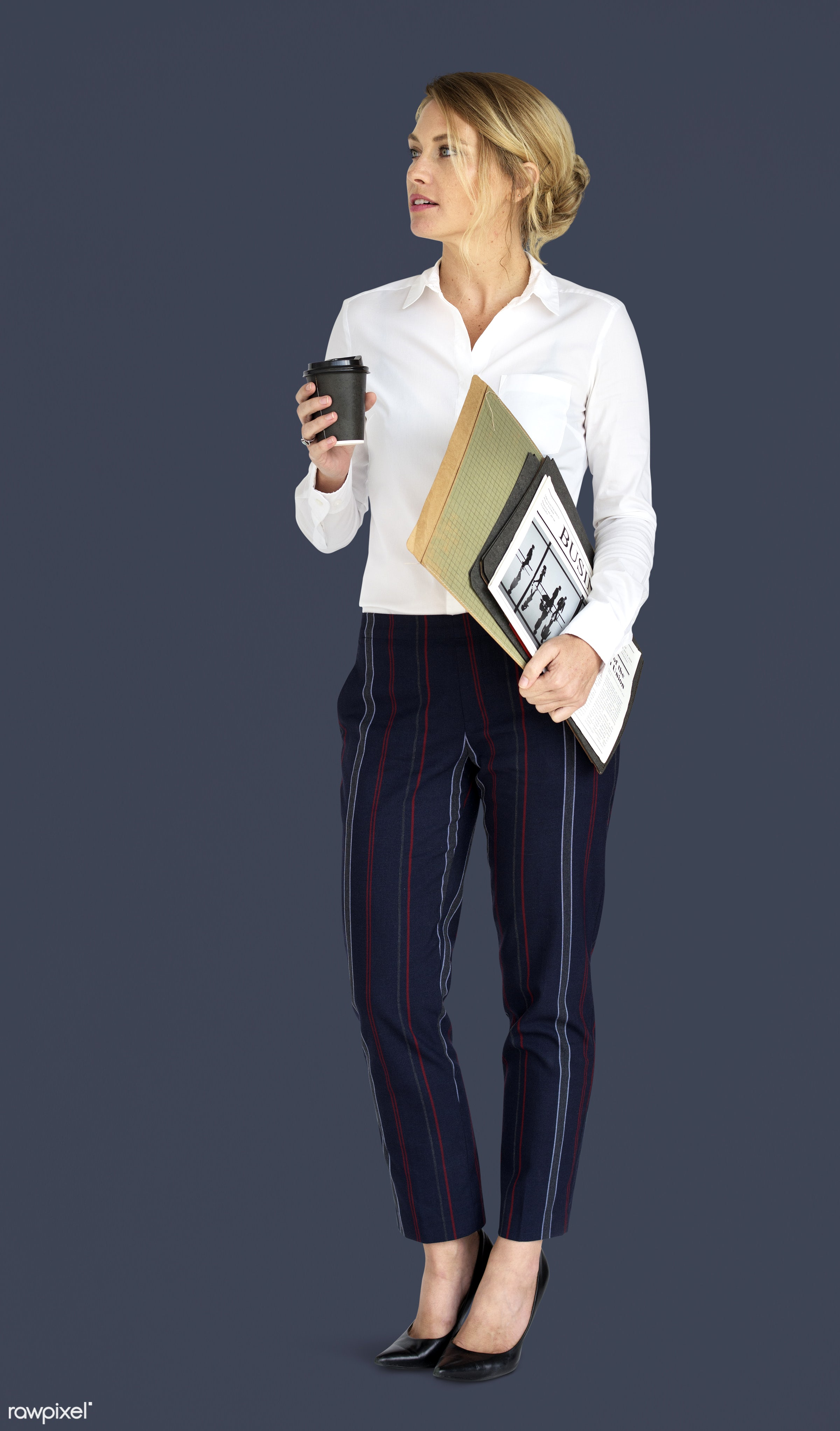 expression, studio, person, business newspaper, business wear, folders, people, formal dressing, business, caucasian, girl,...