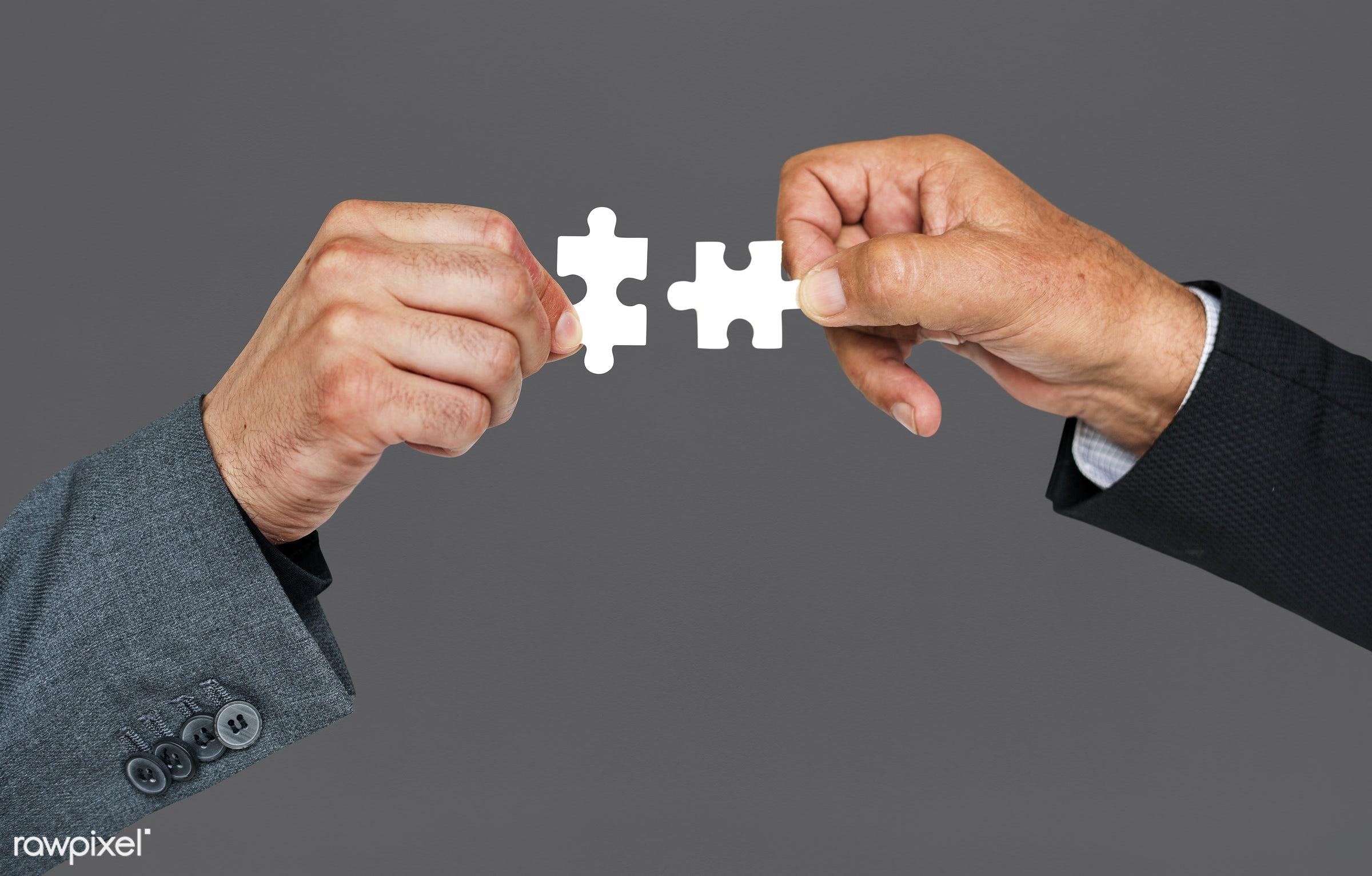 studio, jigsaw, jigsaw puzzle, holding, business, hand, corporate business, teamwork, action, cooperation, grey, motion,...