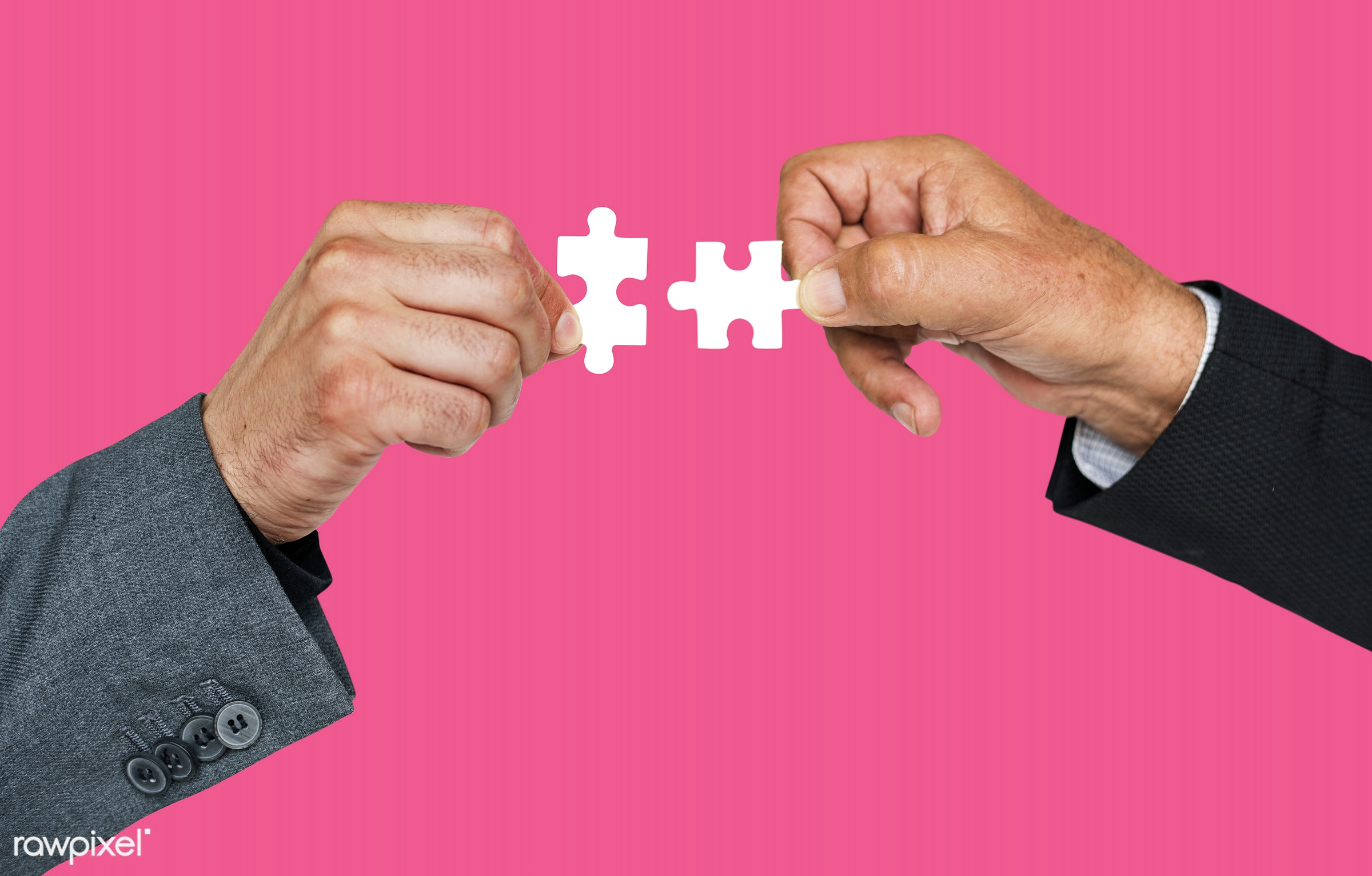 studio, jigsaw, jigsaw puzzle, holding, business, hand, corporate business, teamwork, action, cooperation, pink, motion,...