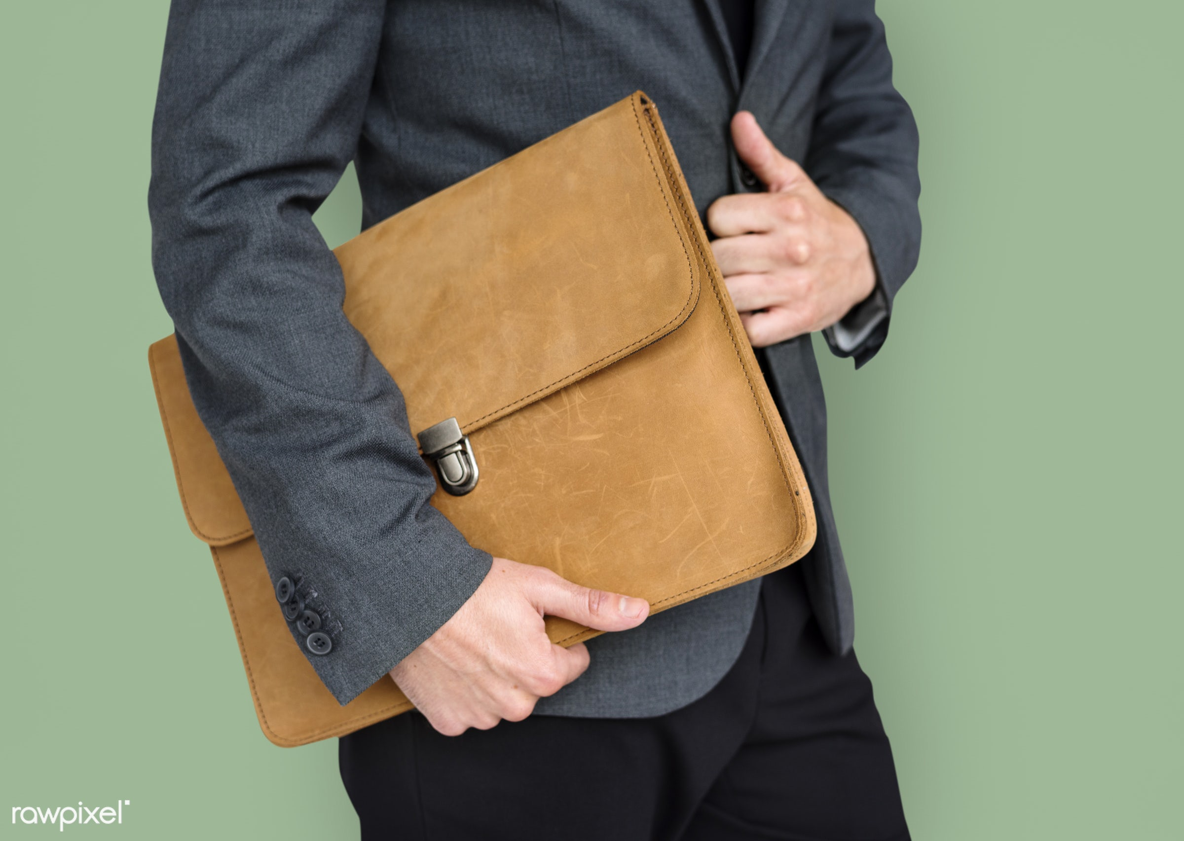 expression, studio, person, business wear, holding, messenger bag, folder bag, people, business, hands, man, strapless, work...