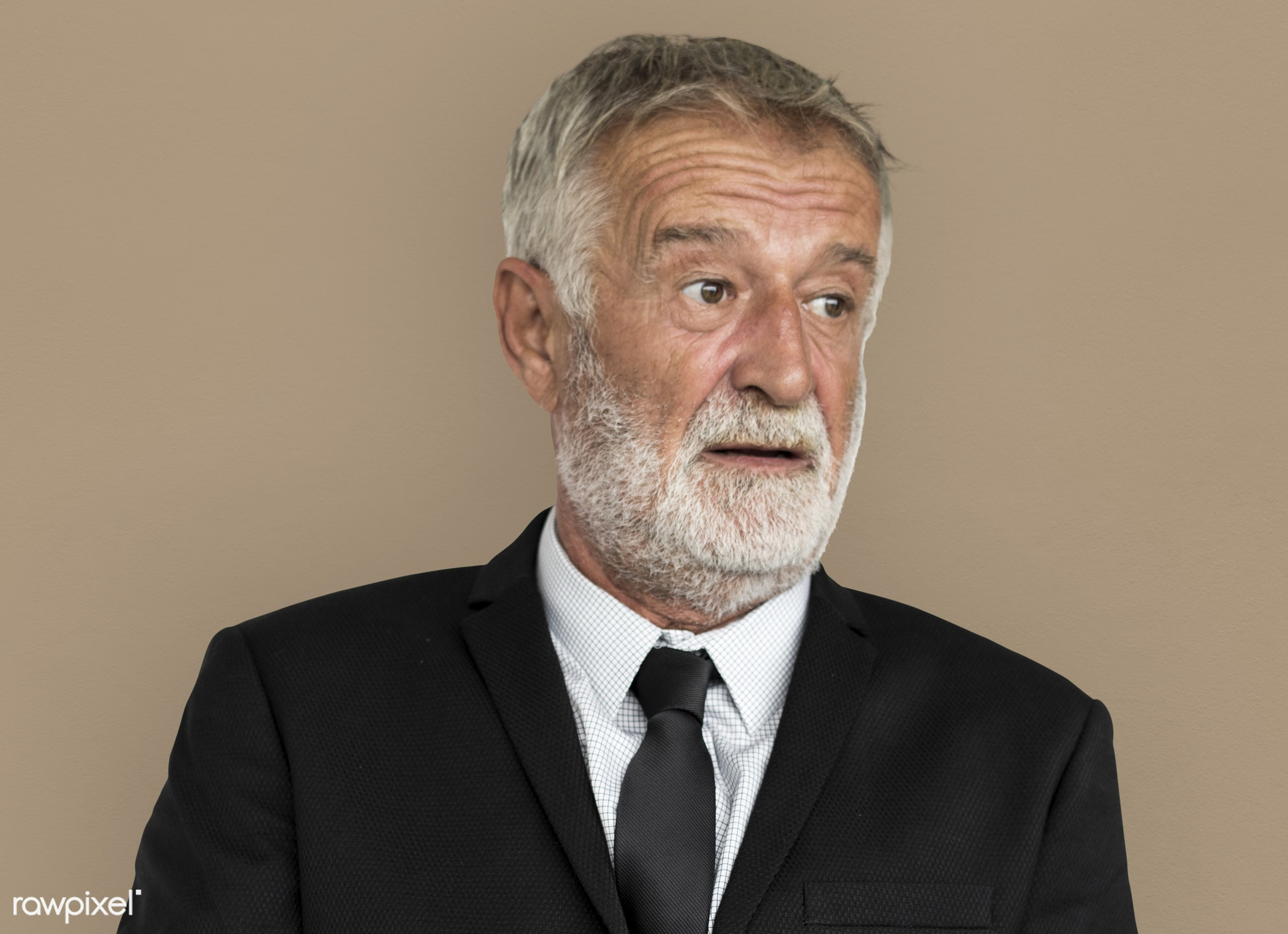 expression, studio, old, person, people, business, caucasian, focused, working, serious, man, neutral mood, work, isolated,...