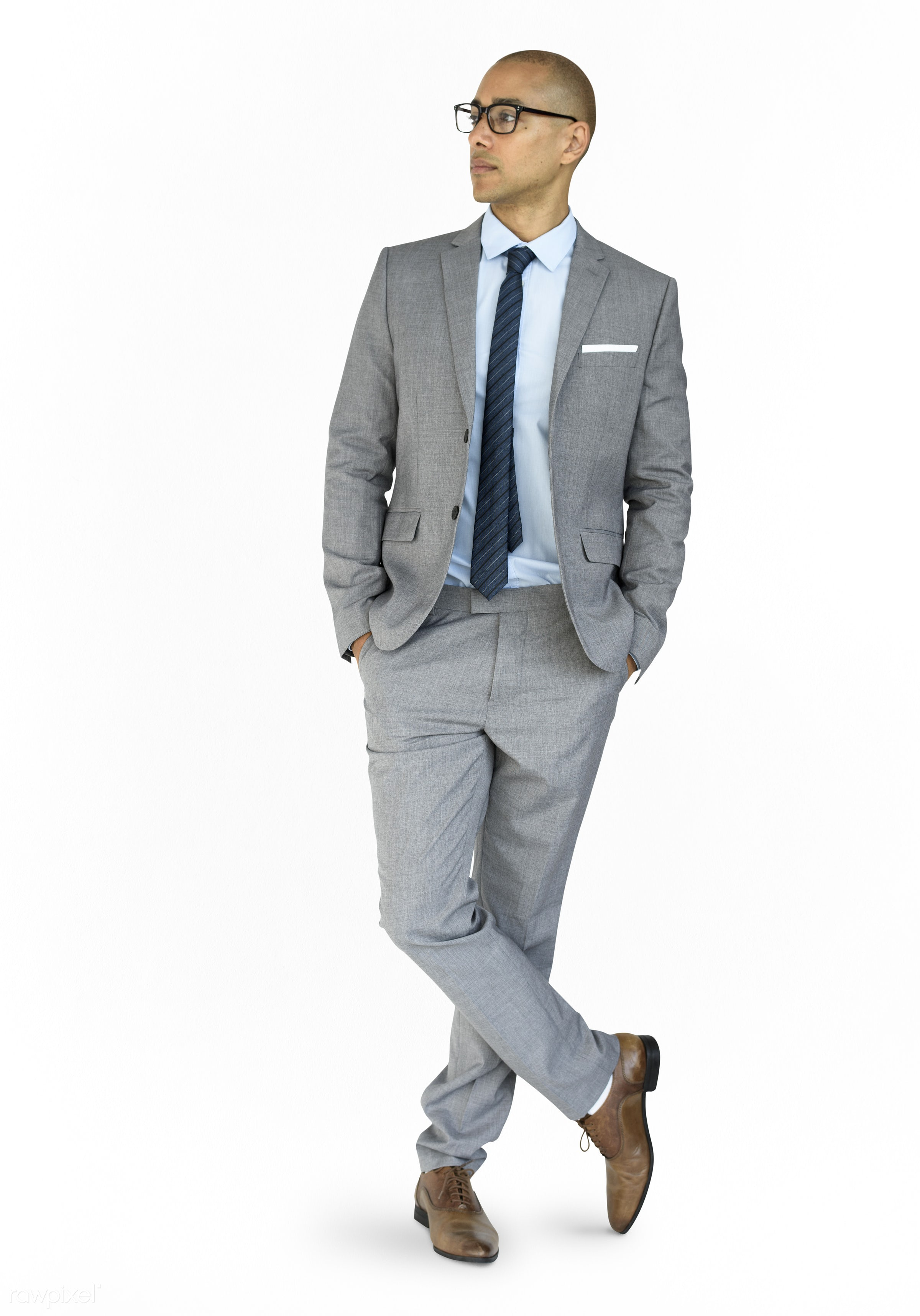 expression, studio, model, person, full length, white collar worker, isolated on white, race, people, business, businessman...