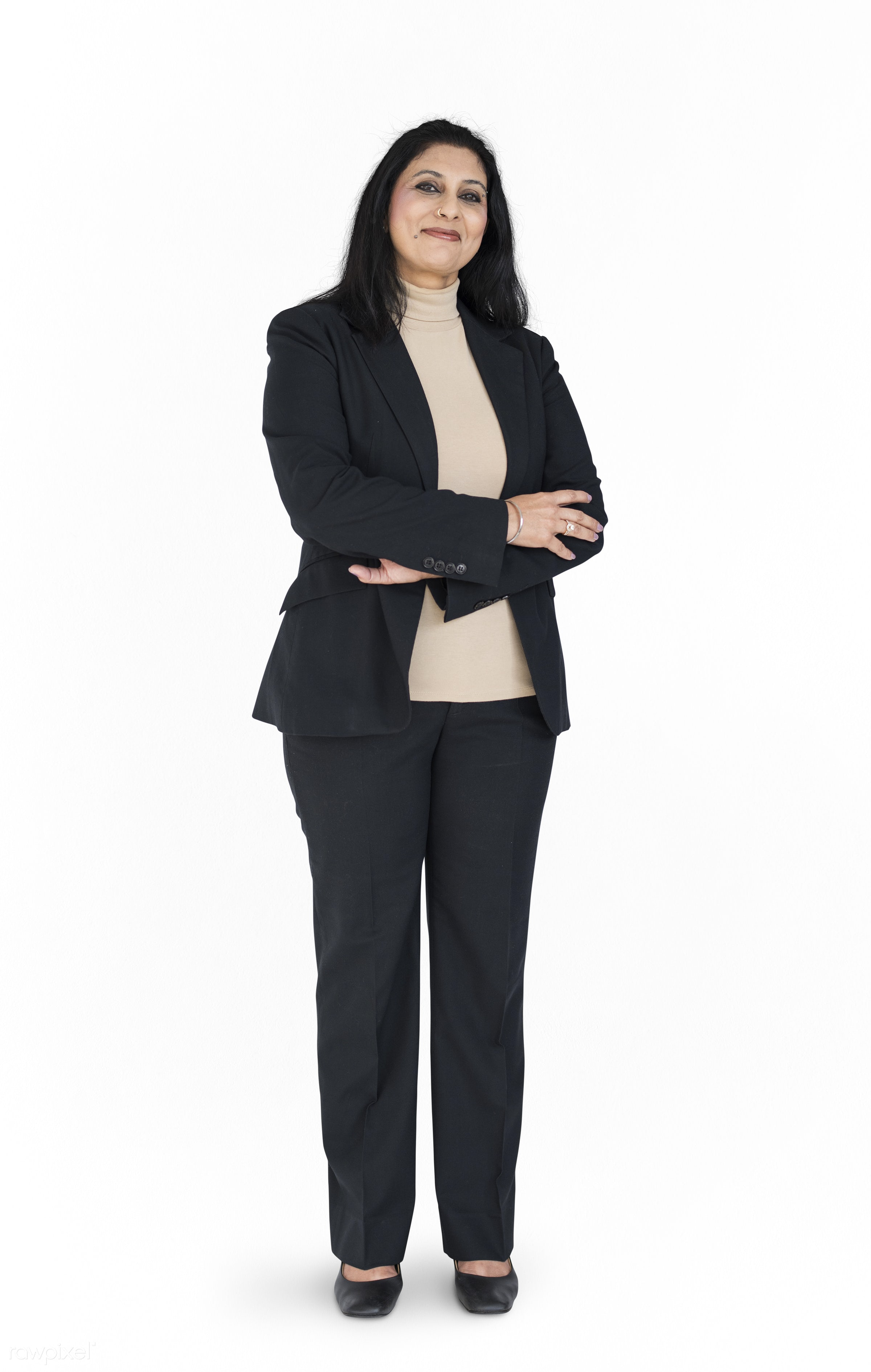expression, studio, working woman, model, person, full length, white collar worker, isolated on white, race, people,...