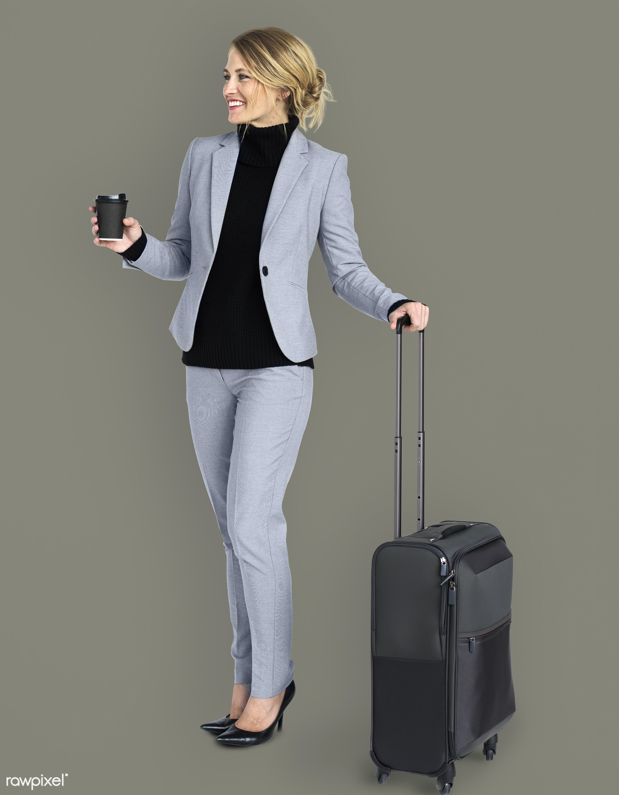 business trip, expression, studio, person, business wear, luggage, travel, business dressing, people, business, caucasian,...