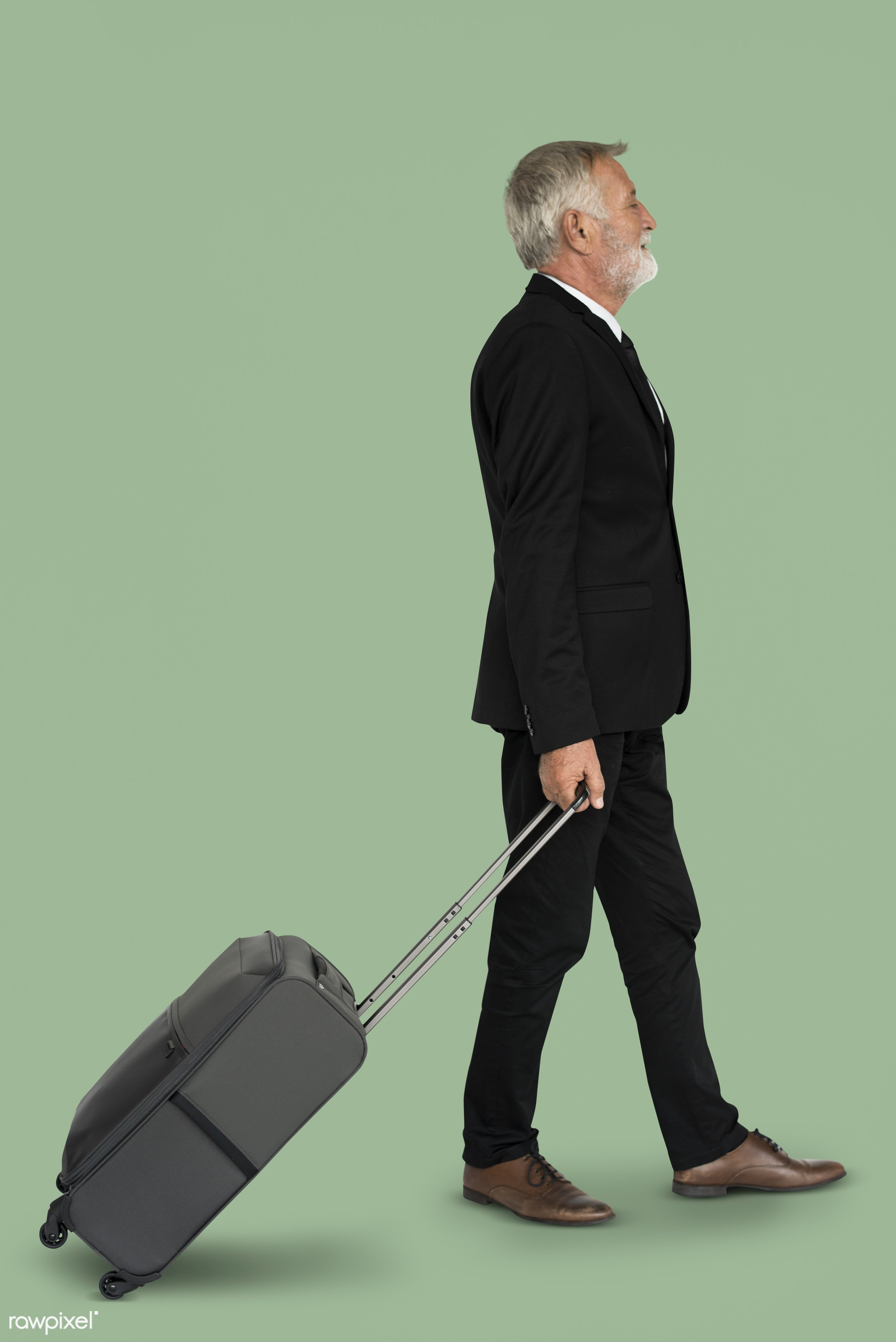 studio, face, person, travel, people, business, businessman, trip, man, isolated, suitcase, green, male, traveler, business...