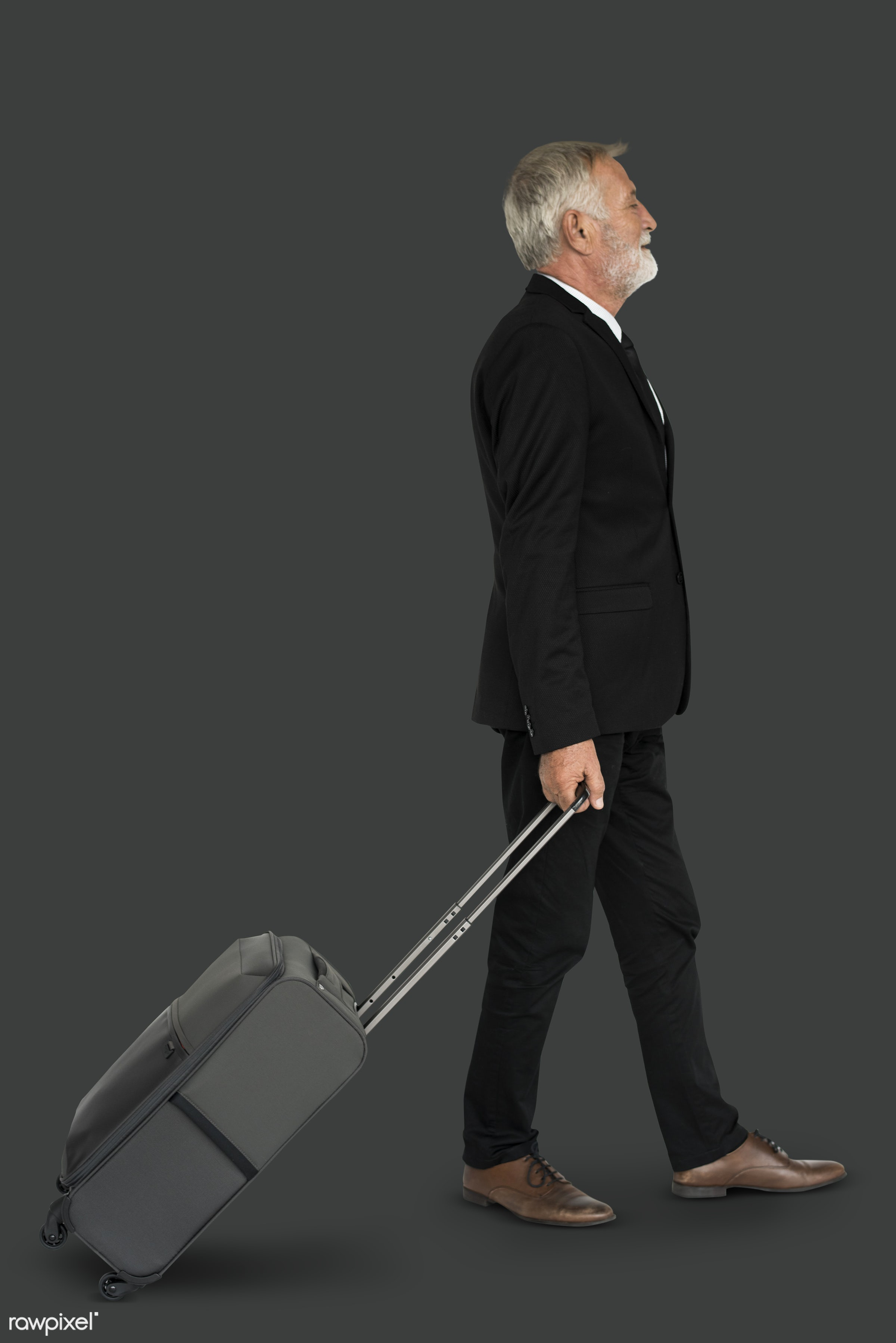 studio, face, person, travel, people, business, businessman, grey, trip, man, isolated, suitcase, male, traveler, business...