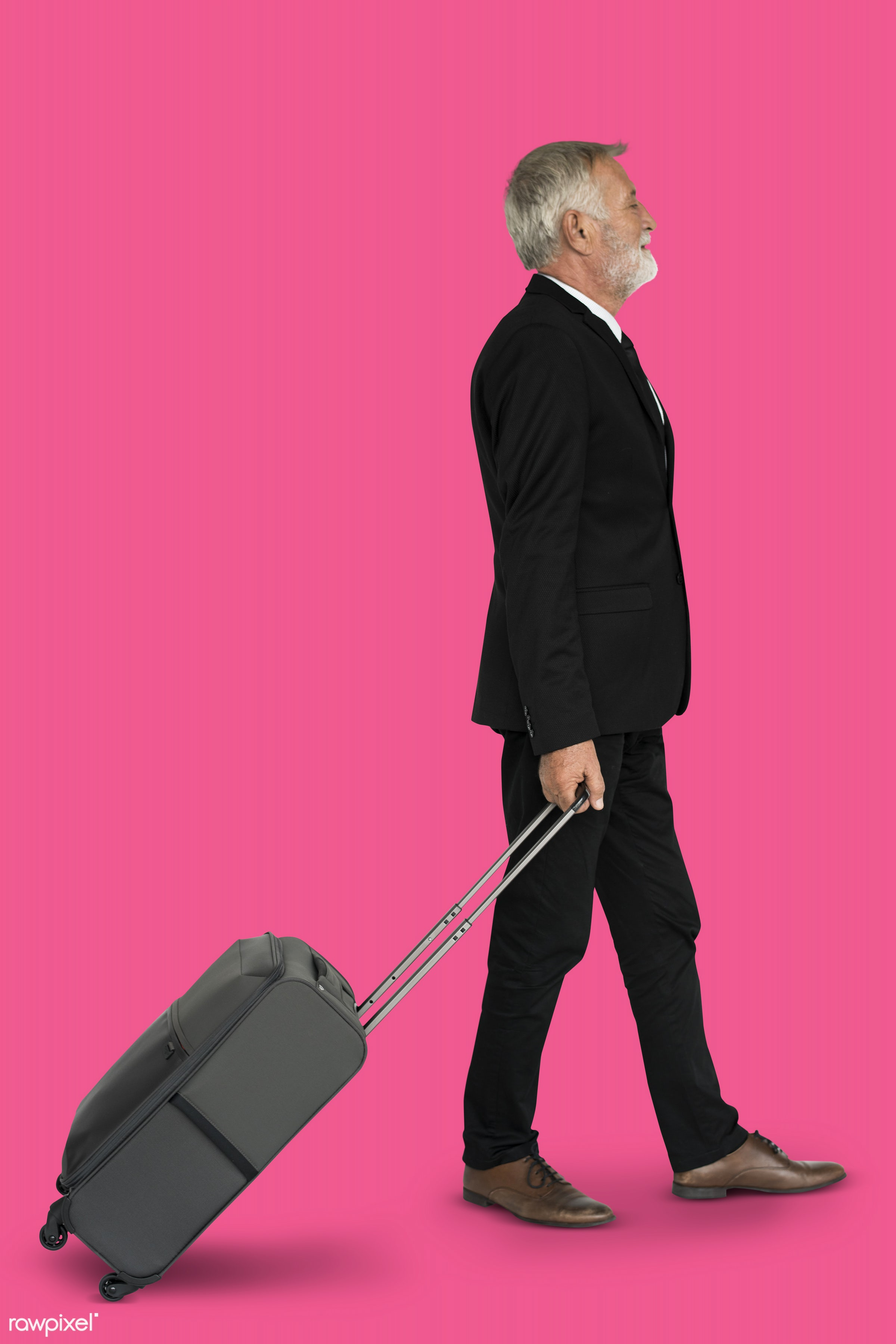 studio, face, person, travel, people, business, businessman, pink, trip, man, isolated, suitcase, male, traveler, business...