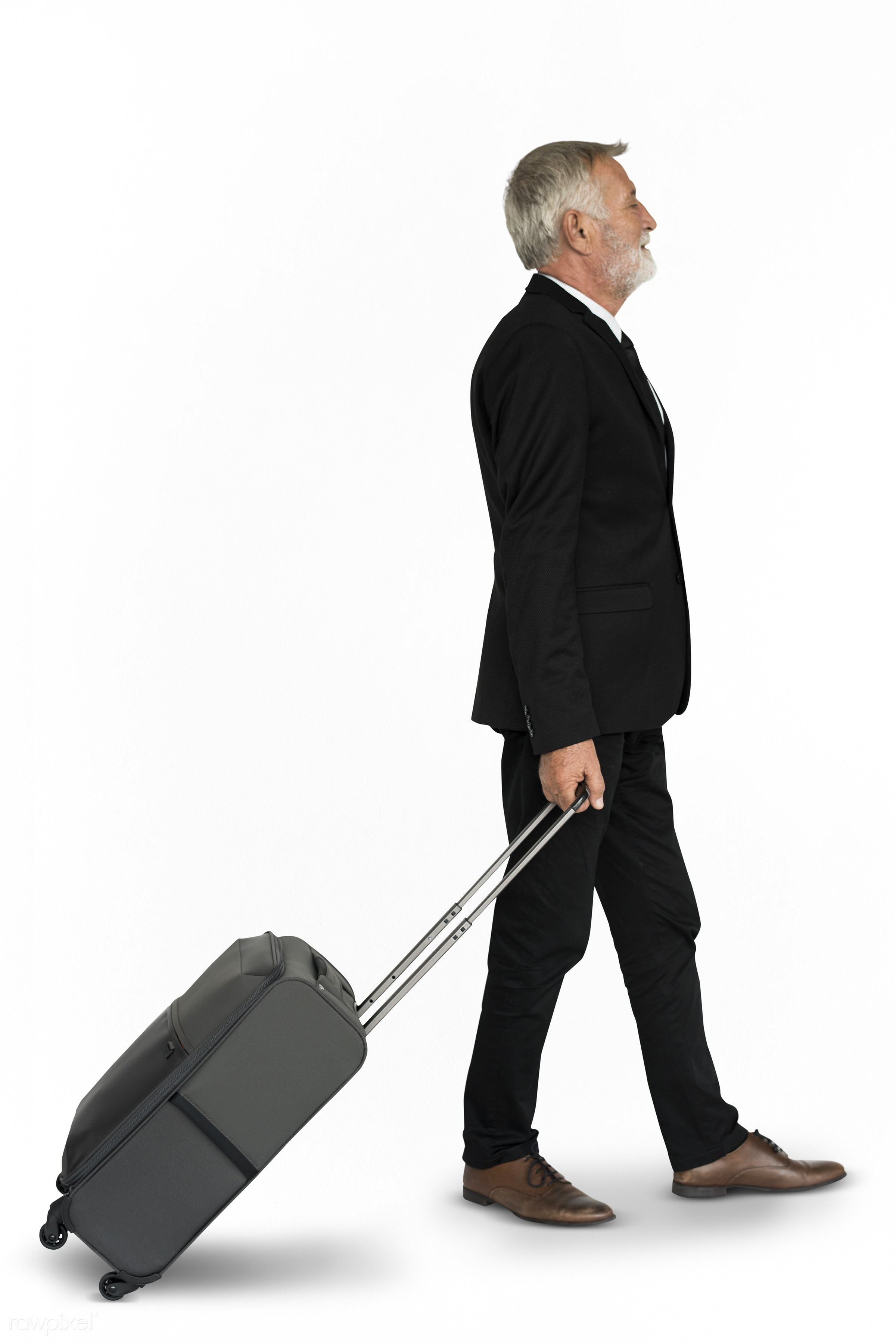 studio, face, person, isolated on white, travel, people, business, businessman, trip, man, isolated, suitcase, male, white,...