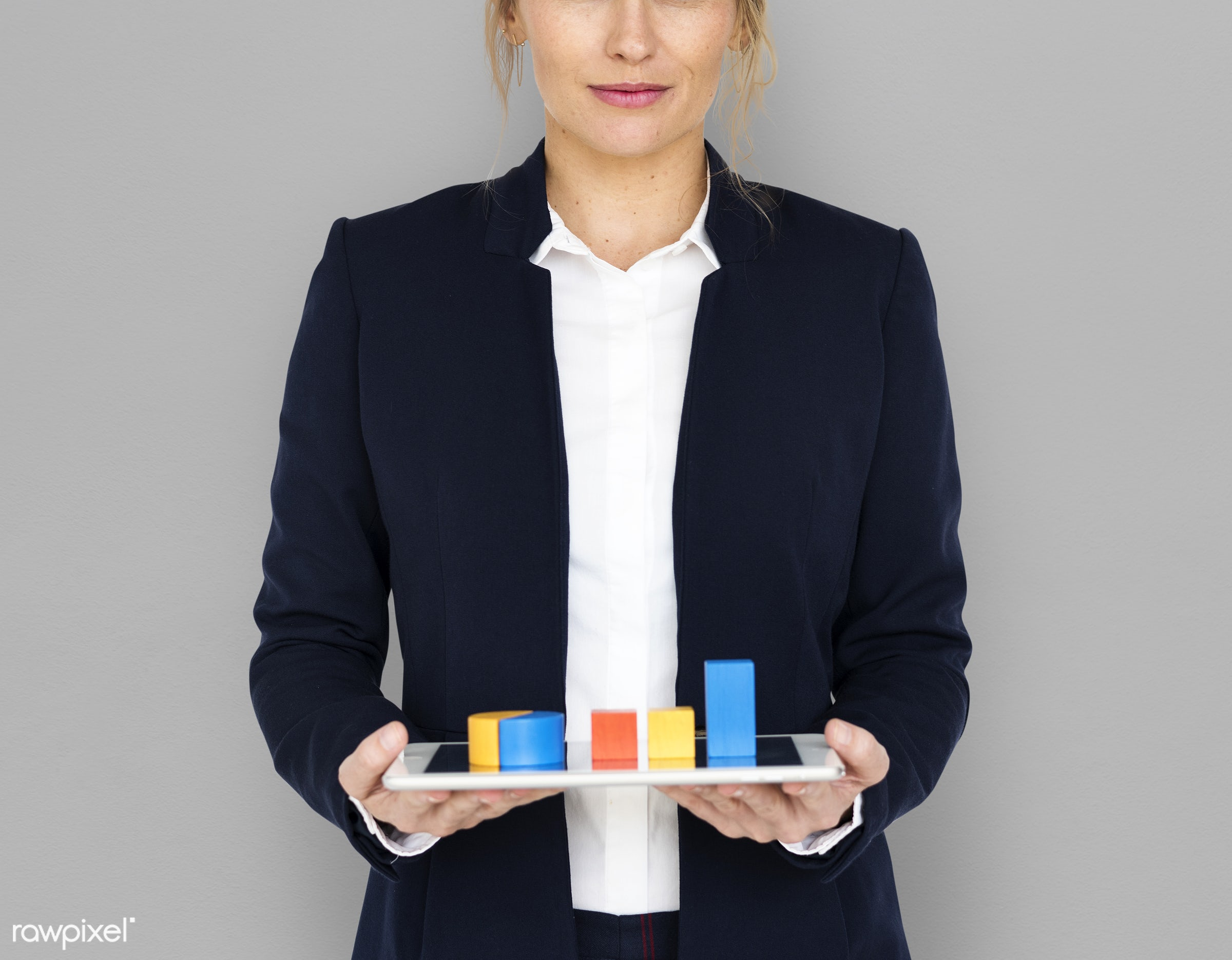 background, blonde, business, business chart, business wear, business woman, caucasian, chart, cheerful, expression, female...