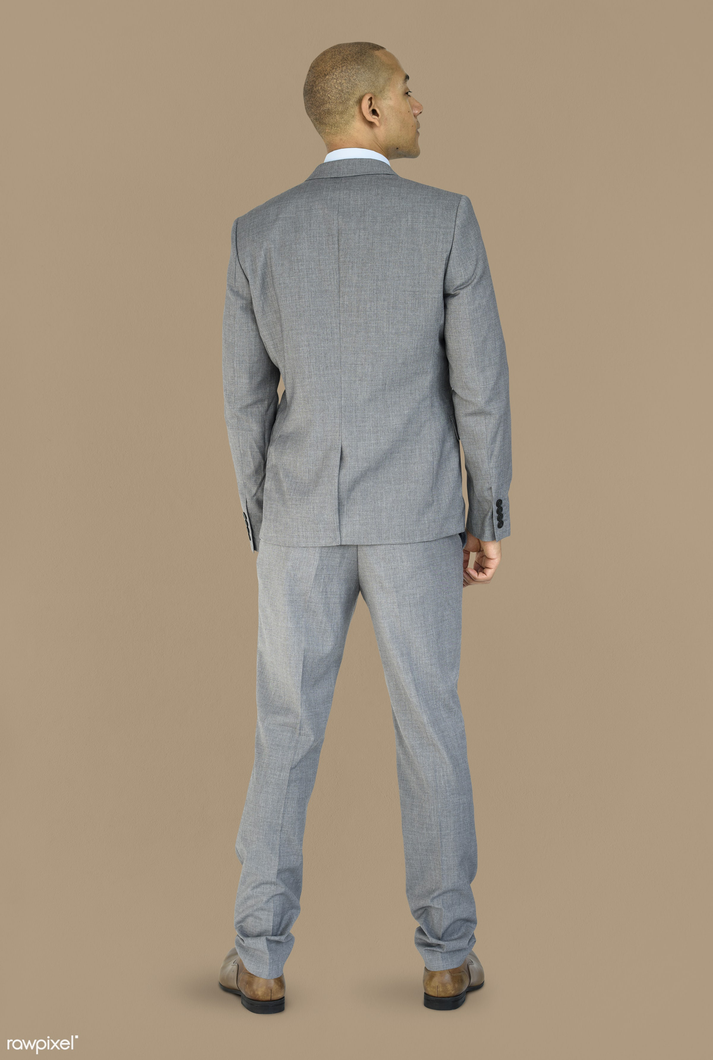 studio, person, people, business, businessman, man, abstract, rear view, isolated, male, adult, portrait, formal, mature,...