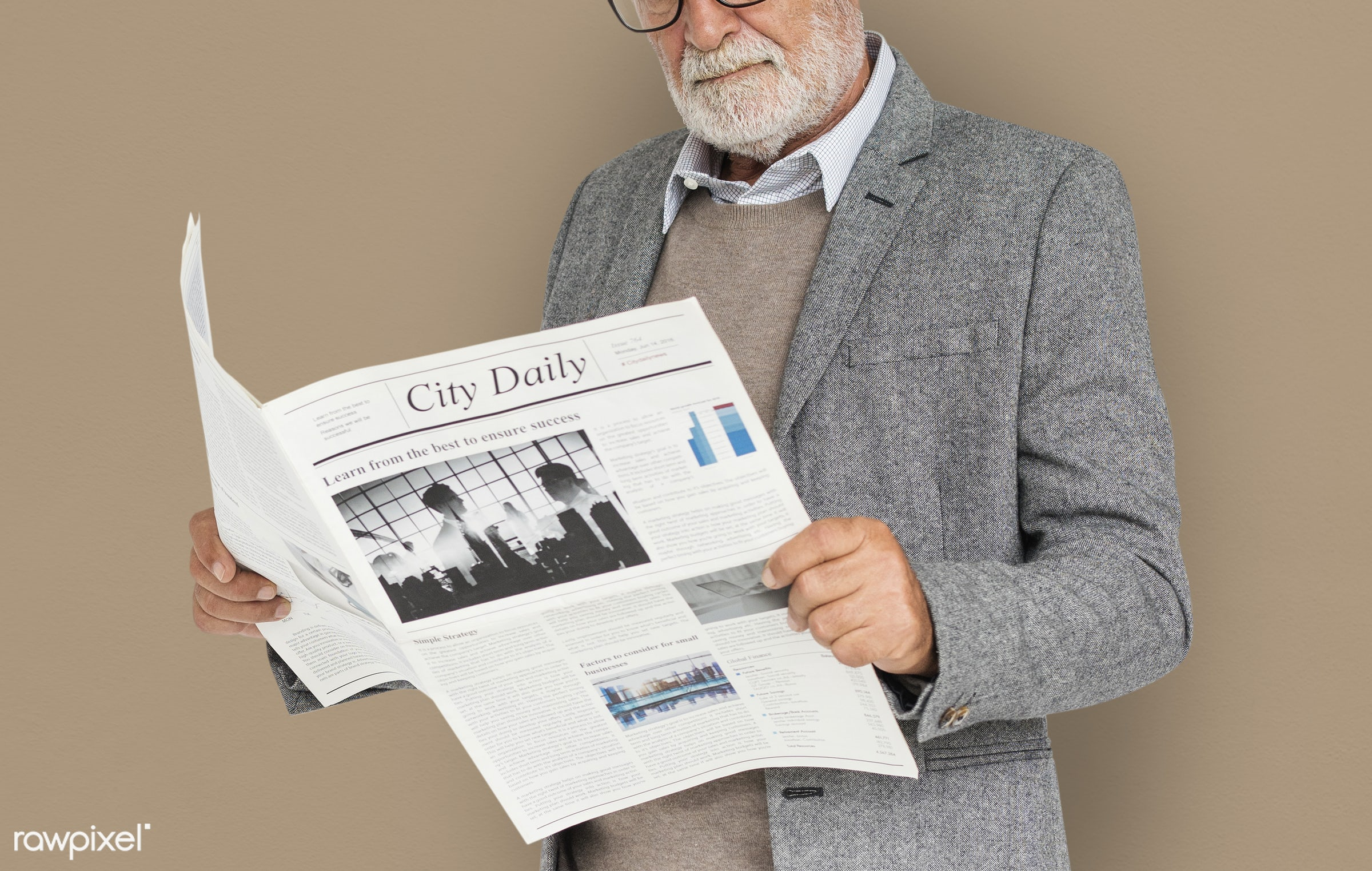 expression, studio, old, person, reading, business dressing, people, caucasian, positive, cheerful, isolated, business man,...