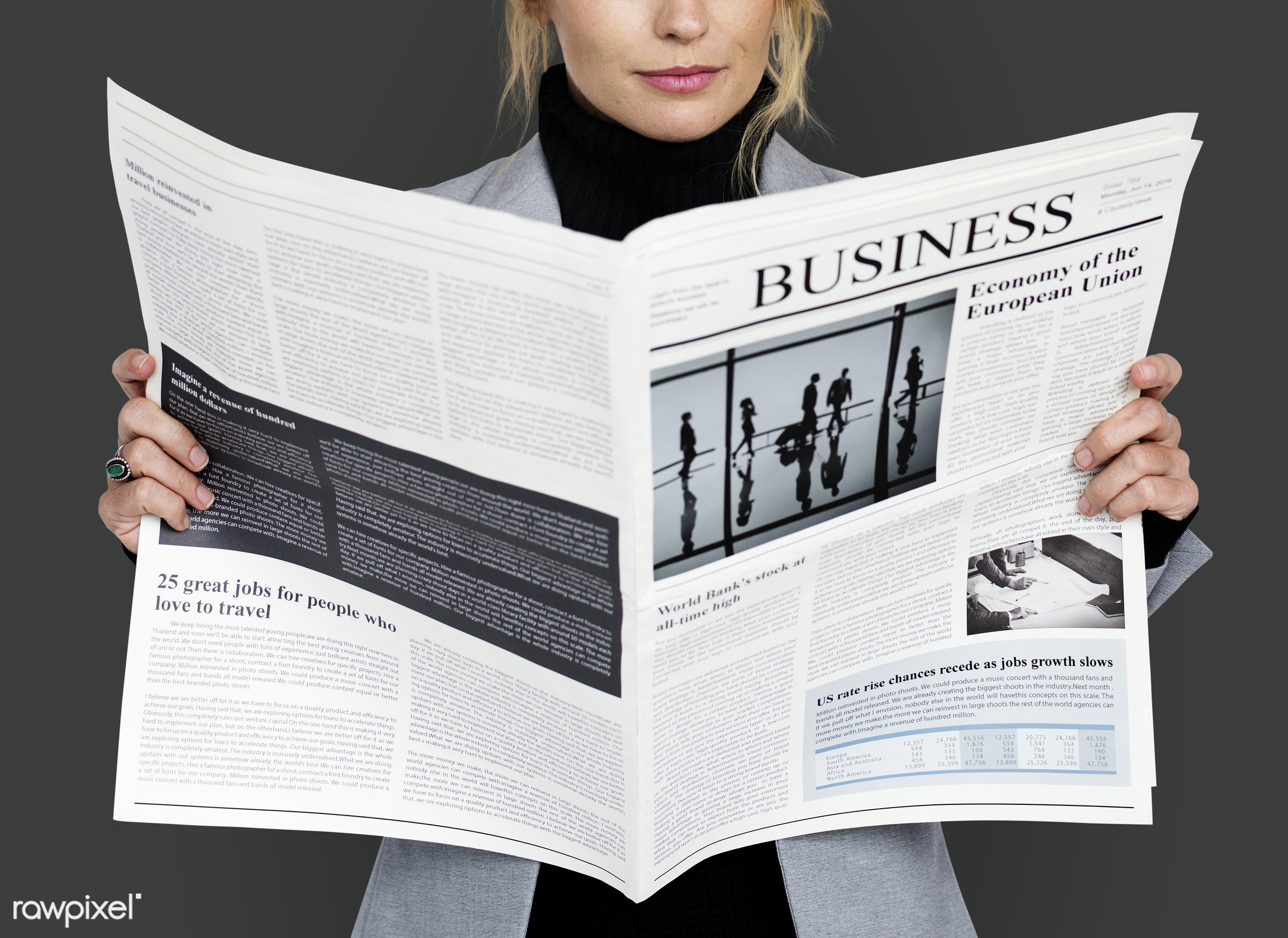 background, business, business dressing, business newspaper, business wear, business woman, cheerful, expression, female,...
