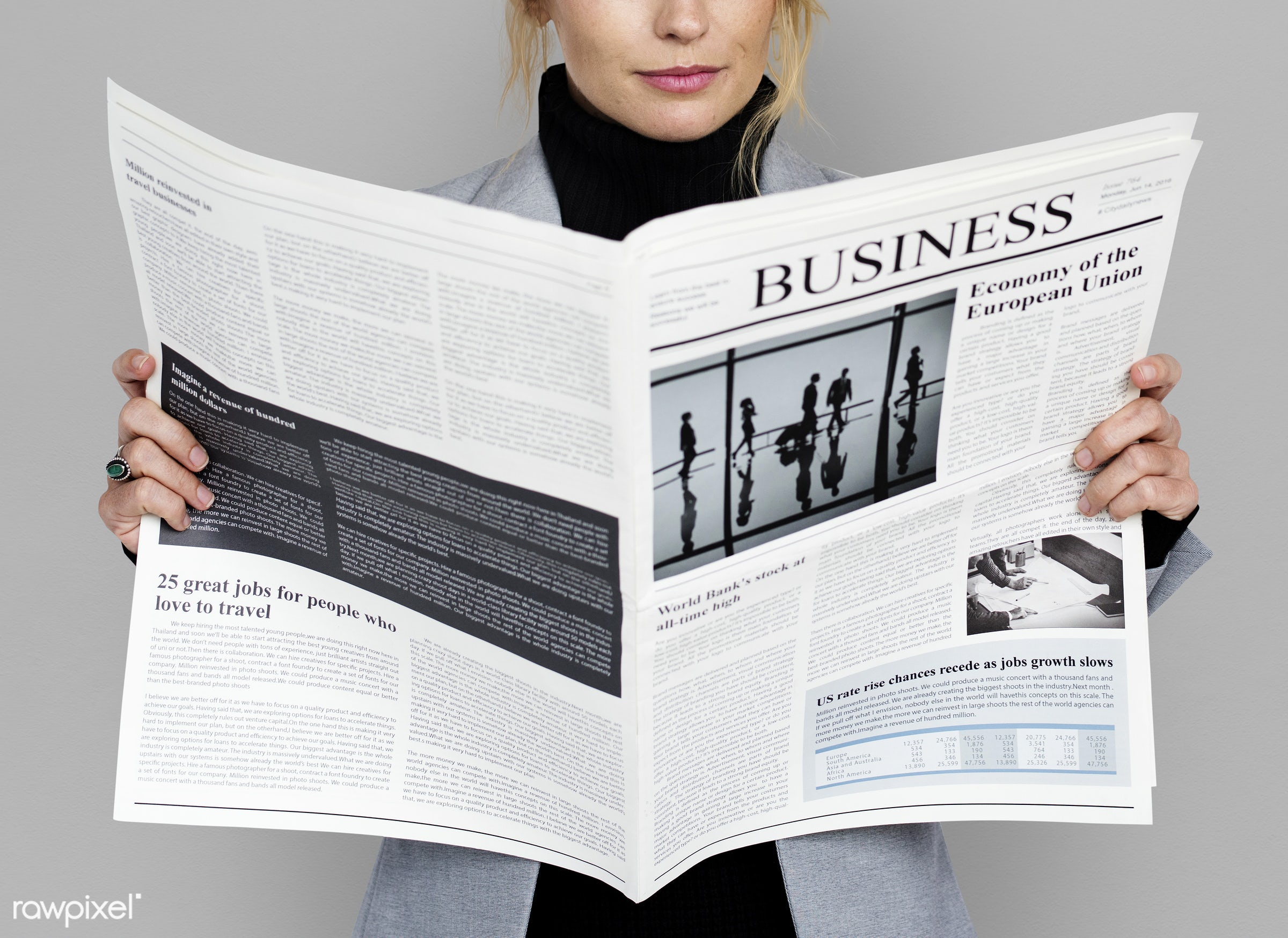 expression, studio, person, reading, business newspaper, business wear, business dressing, formal dressing, people, business...