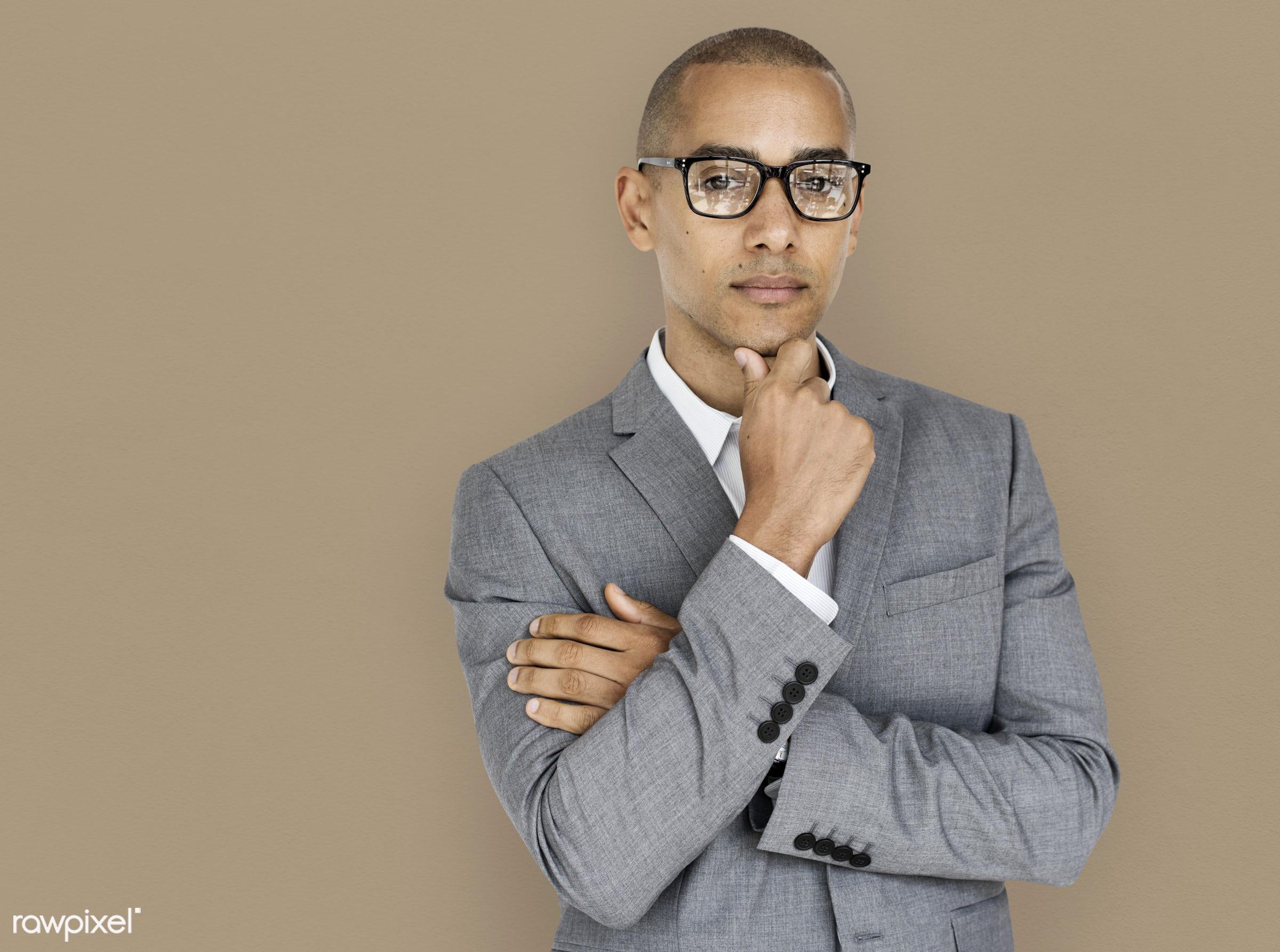 african descent, background, brainstorm, business, business attire, business man, business wear, expression, formal, formal...