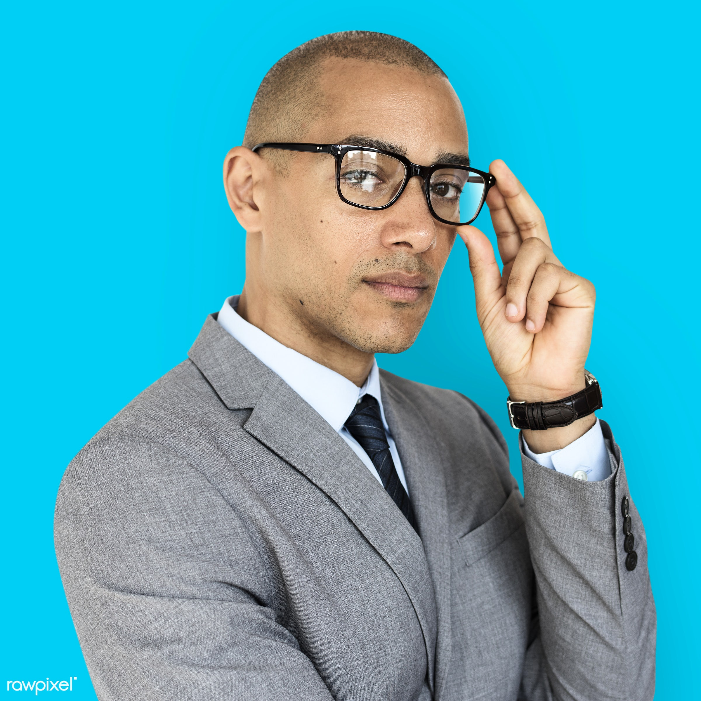 expression, studio, person, glasses, business wear, people, business, pose, smart looking, focused, serious, black, formal...