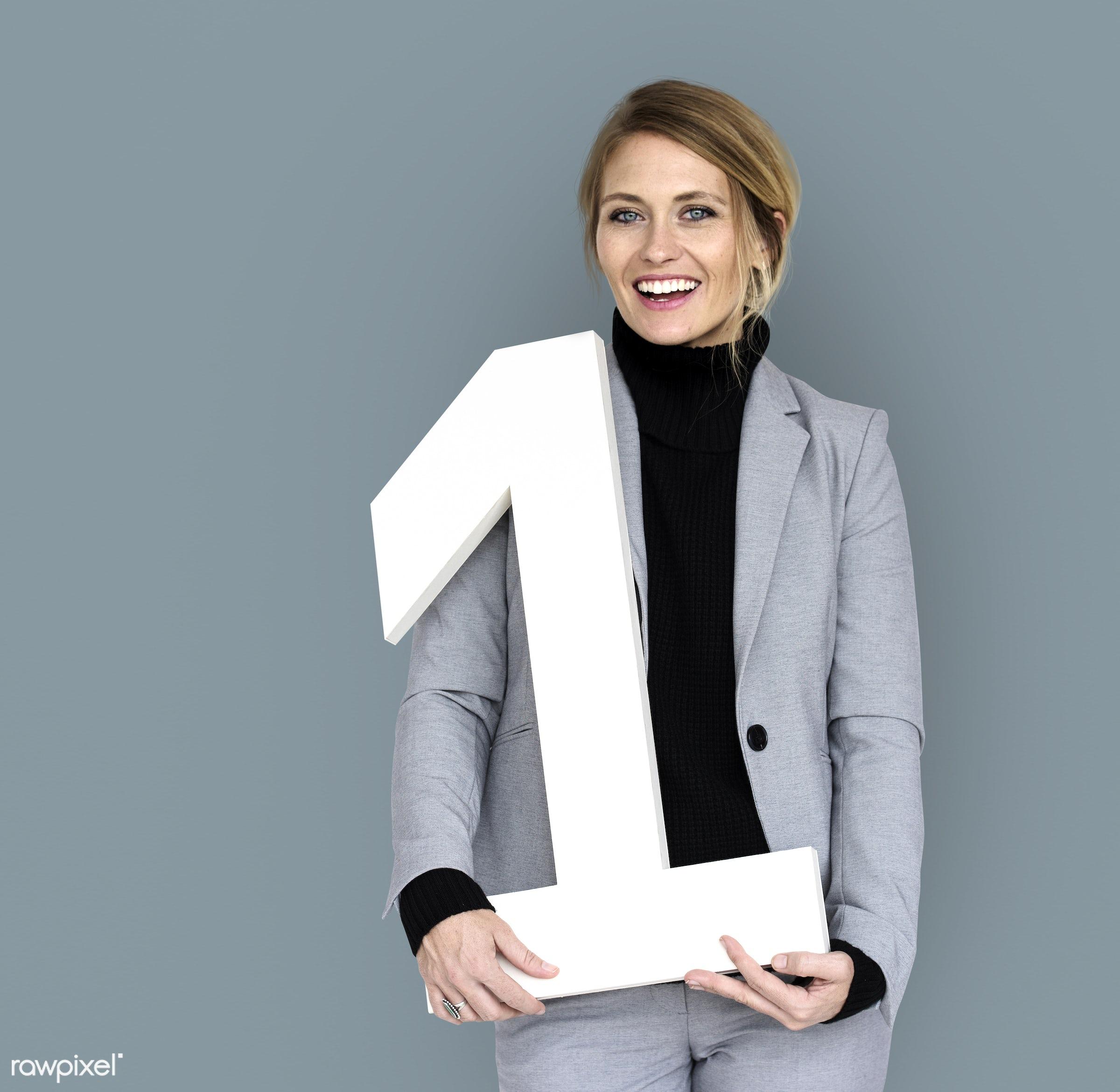 expression, studio, person, business wear, joy, achieve, people, caucasian, rank, girl, joyous, woman, happy, smile,...