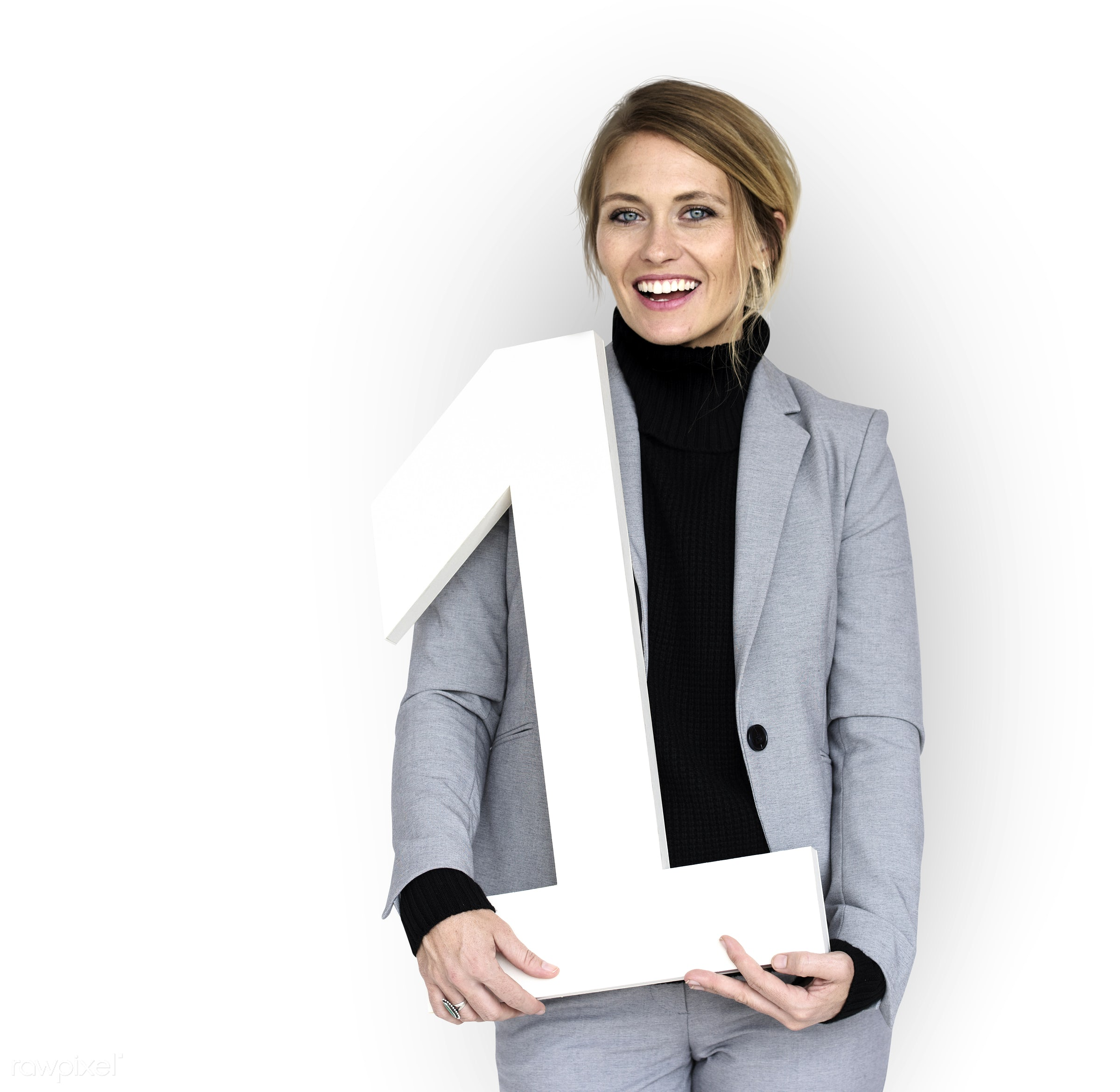studio, expression, person, business wear, joy, isolated on white, achieve, people, caucasian, rank, girl, joyous, happy,...