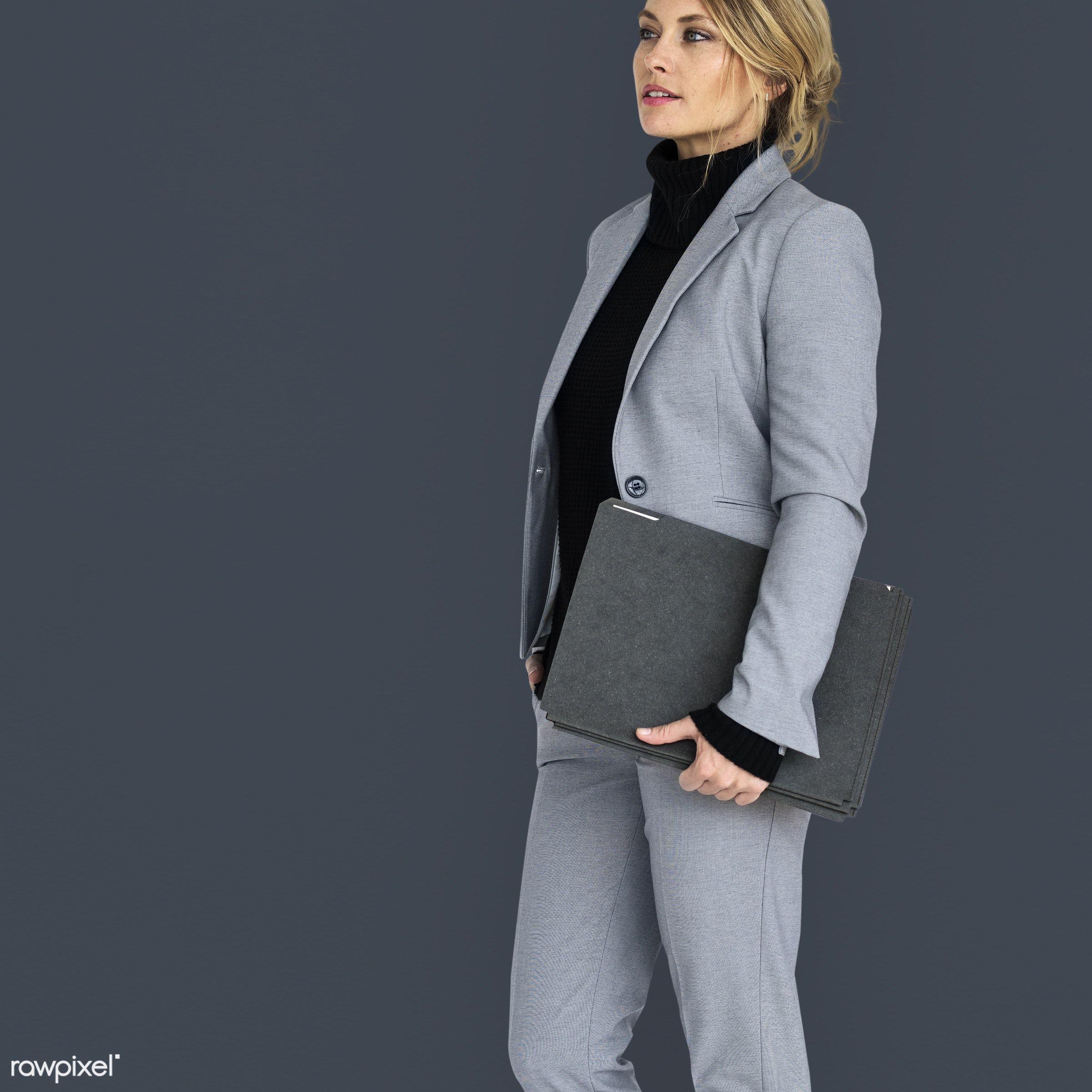 expression, studio, person, business wear, holding, people, caucasian, girl, woman, happy, smile, positive, smiling, formal...