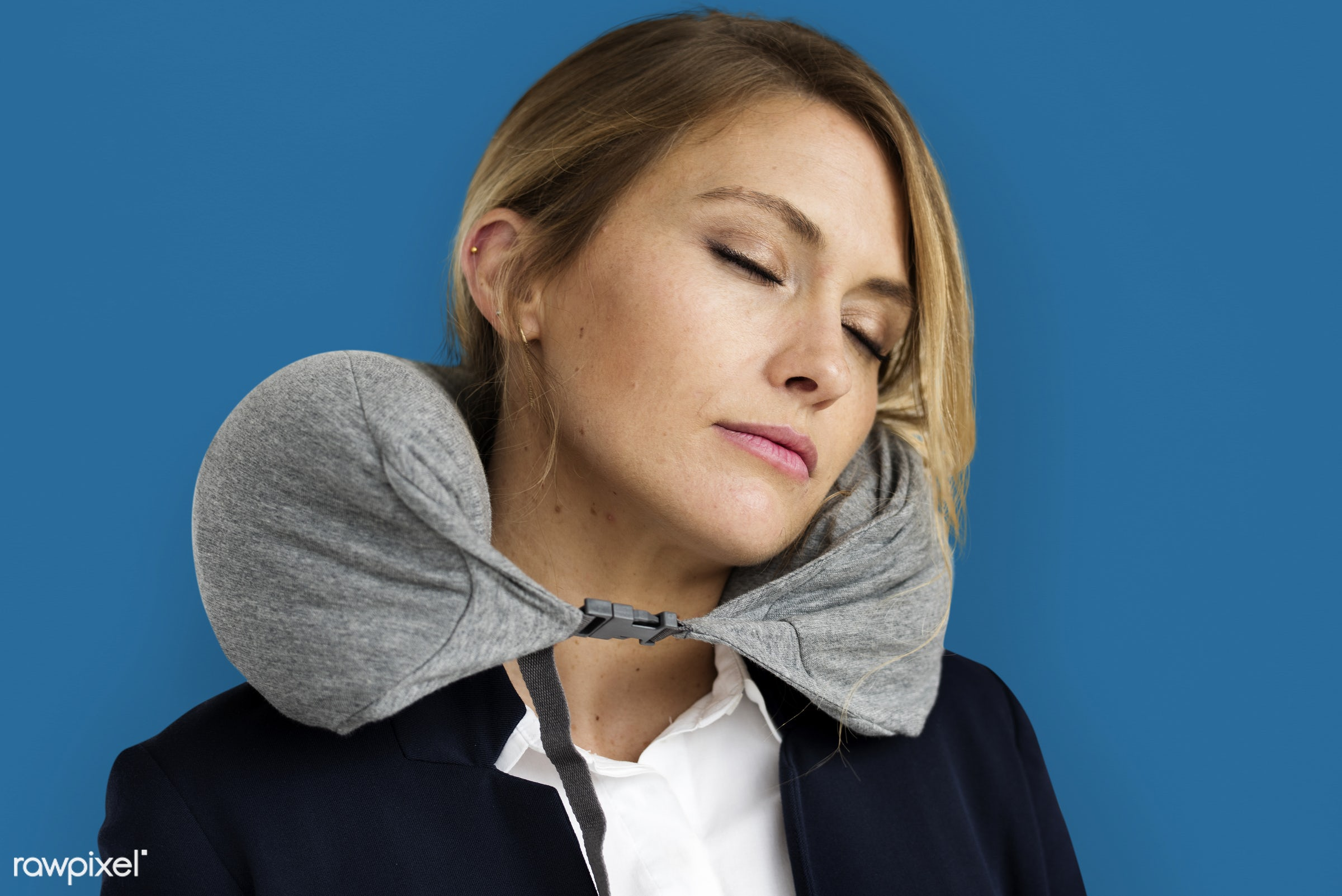 expression, studio, person, business wear, sleeping, napping, people, caucasian, girl, travelling, woman, closed eyes,...