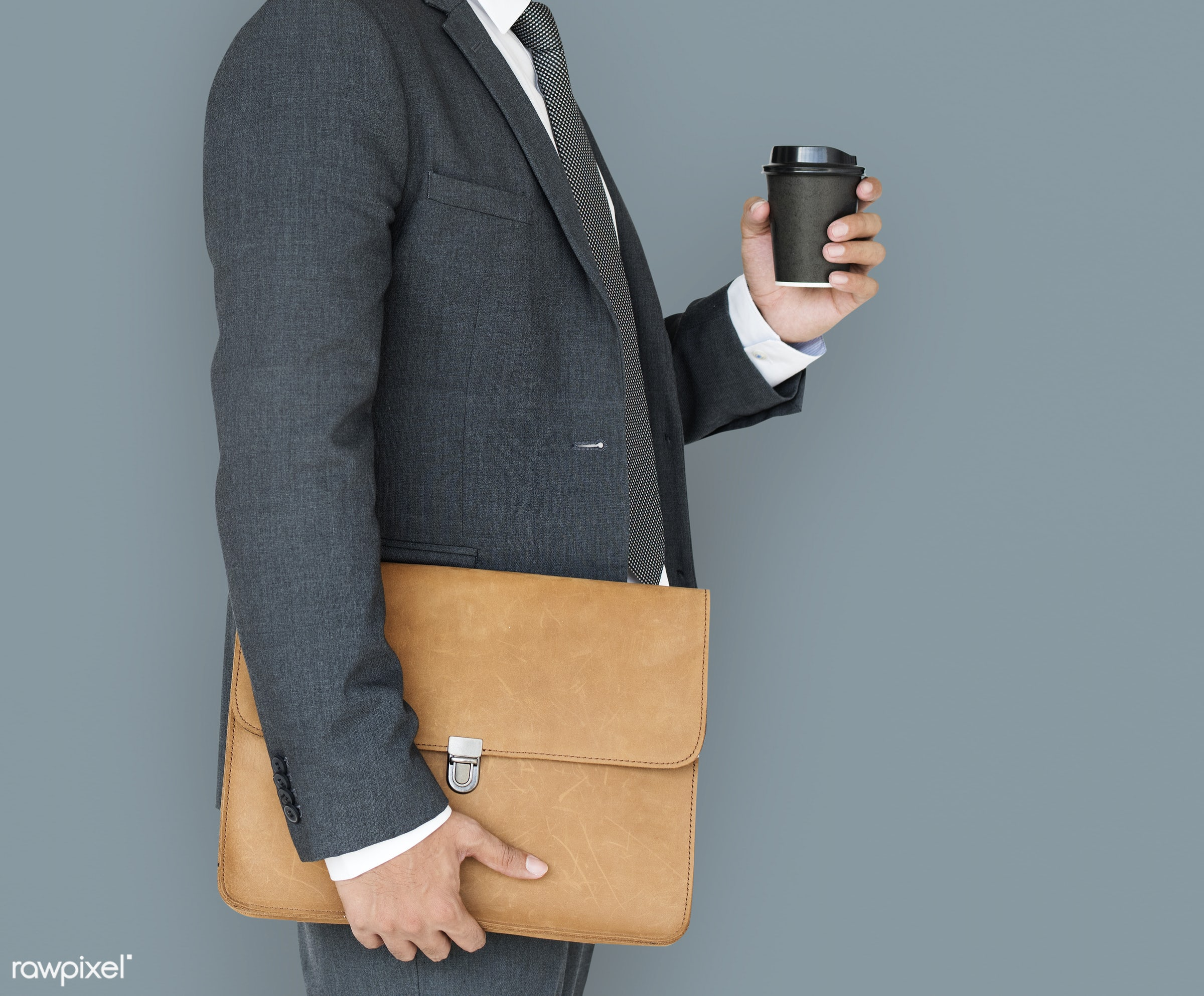 expression, studio, person, business wear, messenger bag, side view, people, business, side, holding coffee, man, formal...