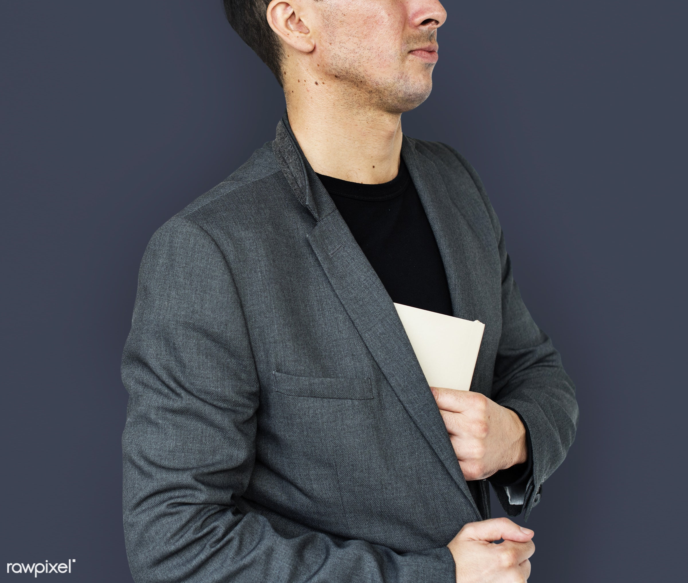 studio, expression, person, business wear, people, business, caucasian, pose, document, man, formal attire, isolated, formal...