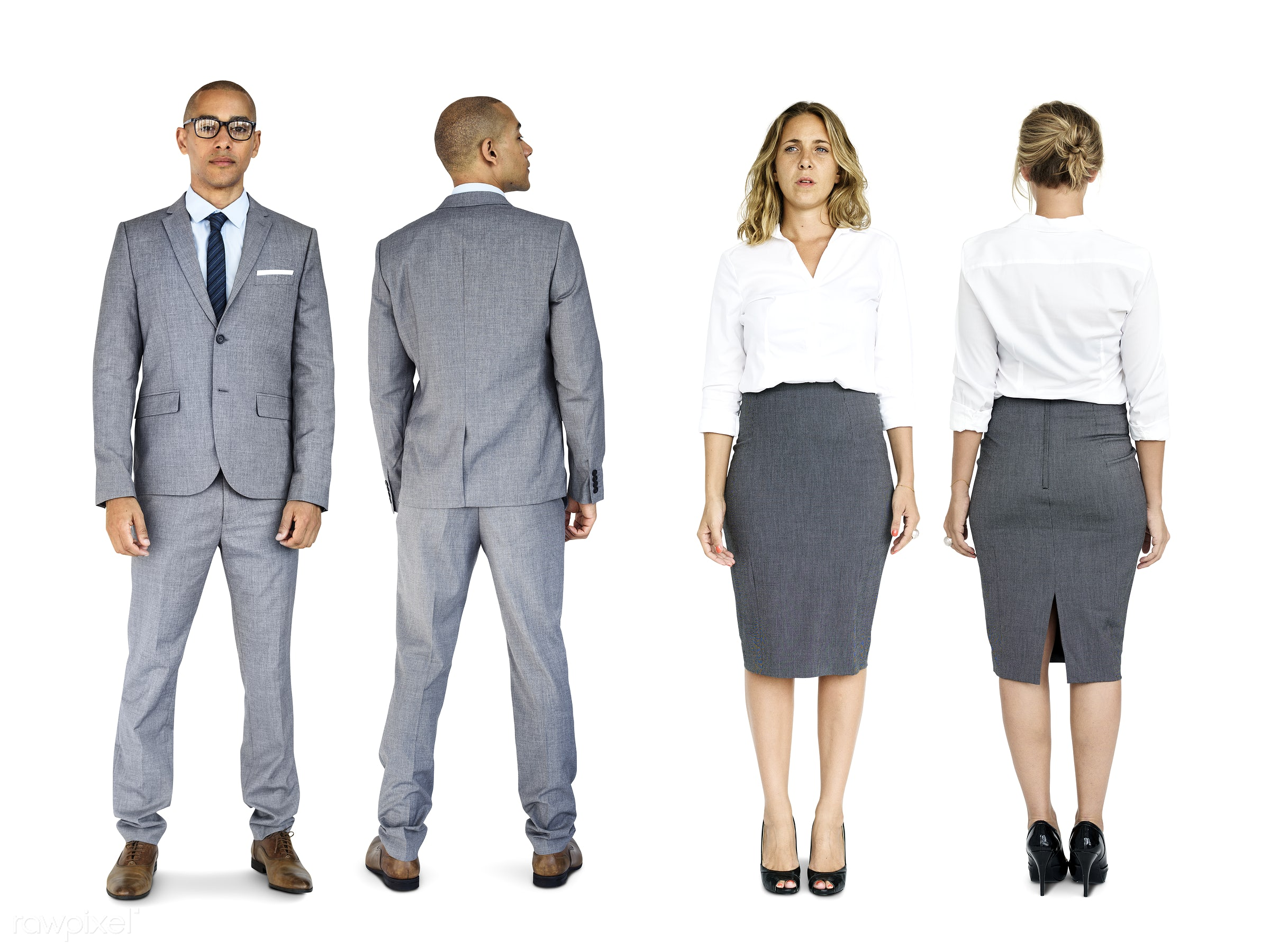 Diverse people set - adult, african descent, asian, business, businessman, businessmen, businesswoman, businesswomen, career...