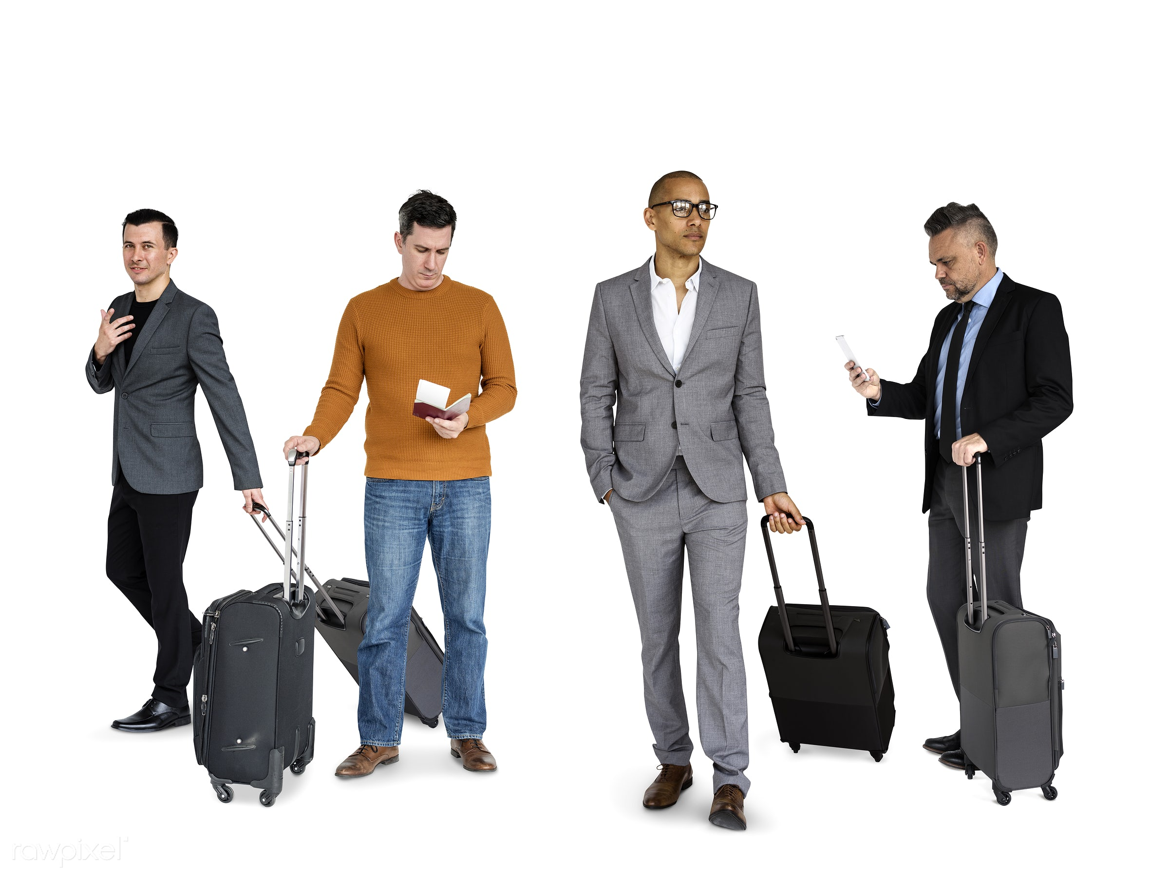abroad, adult, away, bag, business, businessmen, candid, casual, caucasian, diverse, diversity, expression, face, hands,...