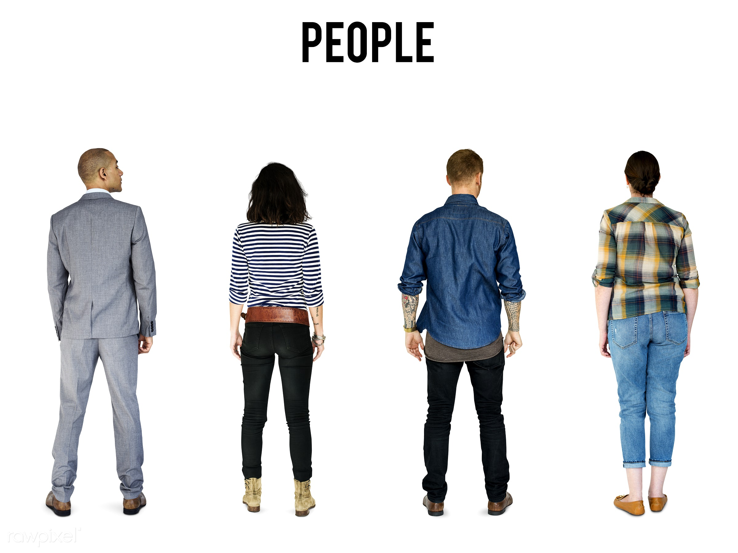 Diverse people set - gentlemen, studio, person, diverse, set, collection, people, attraction, together, caucasian, life,...