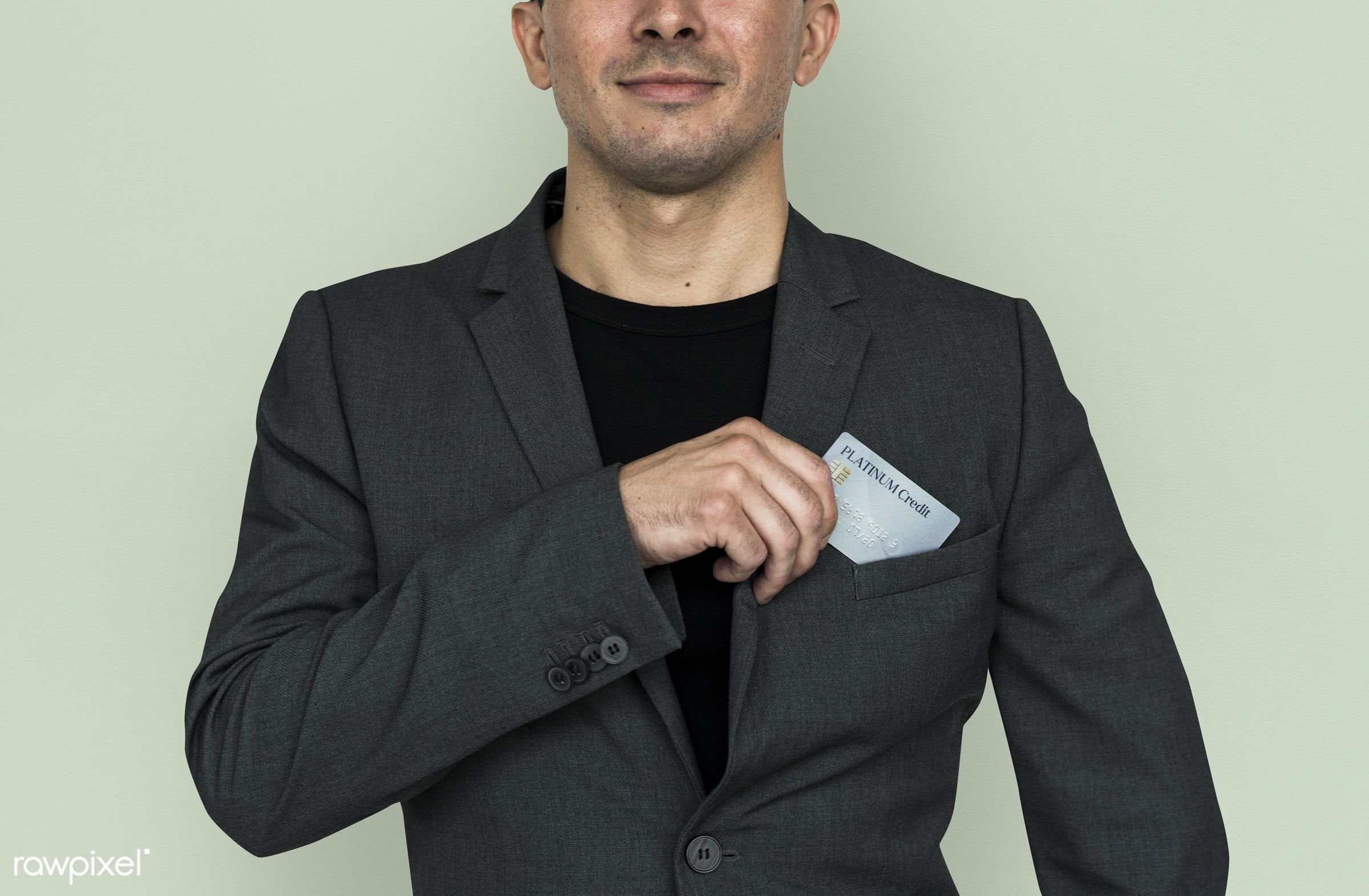 studio, expression, person, business wear, formal dressing, people, business, caucasian, card, smile, credit, smiling, man,...