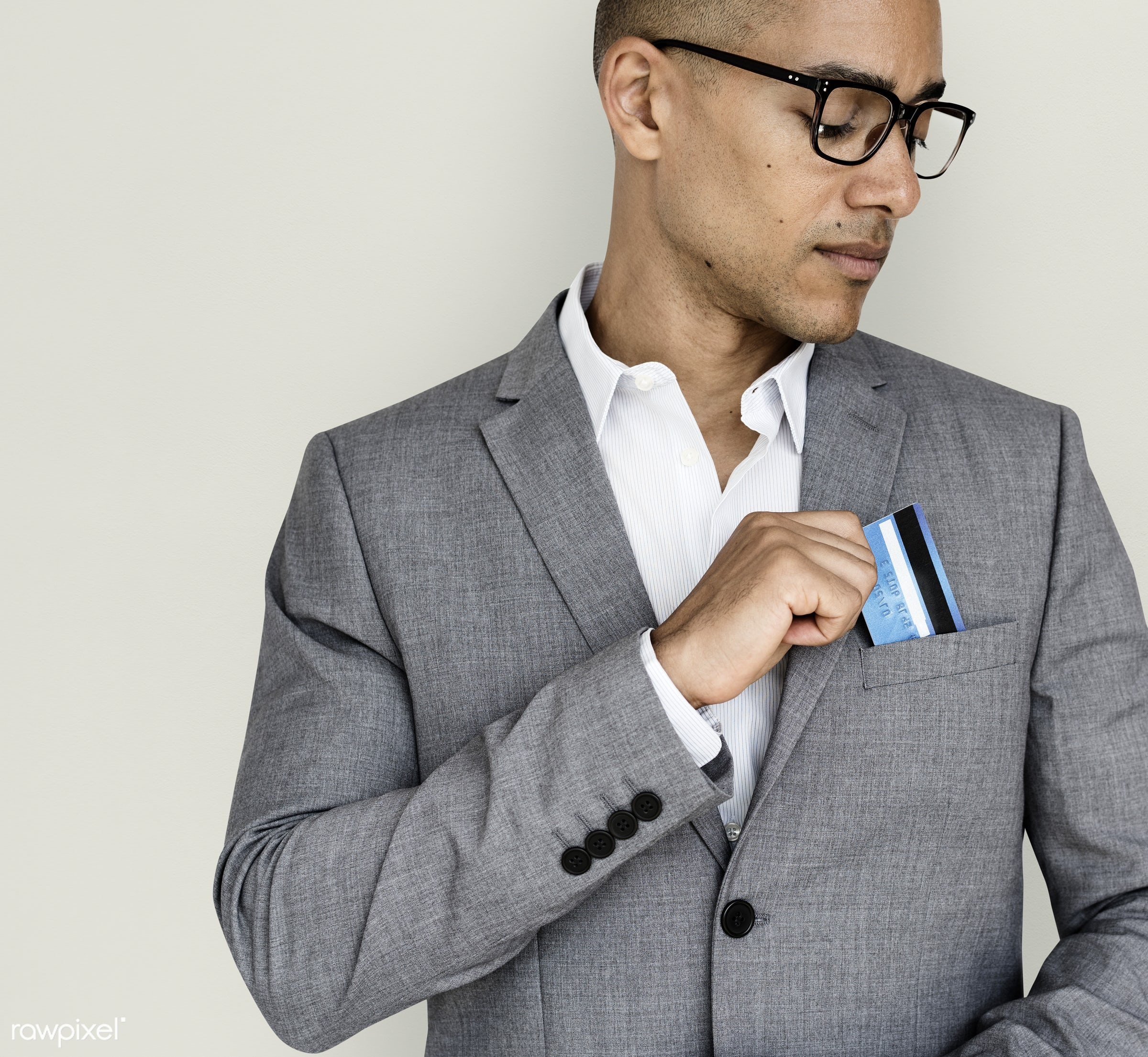 expression, studio, person, business wear, people, formal dressing, business, card, credit, man, black, neutral mood, formal...