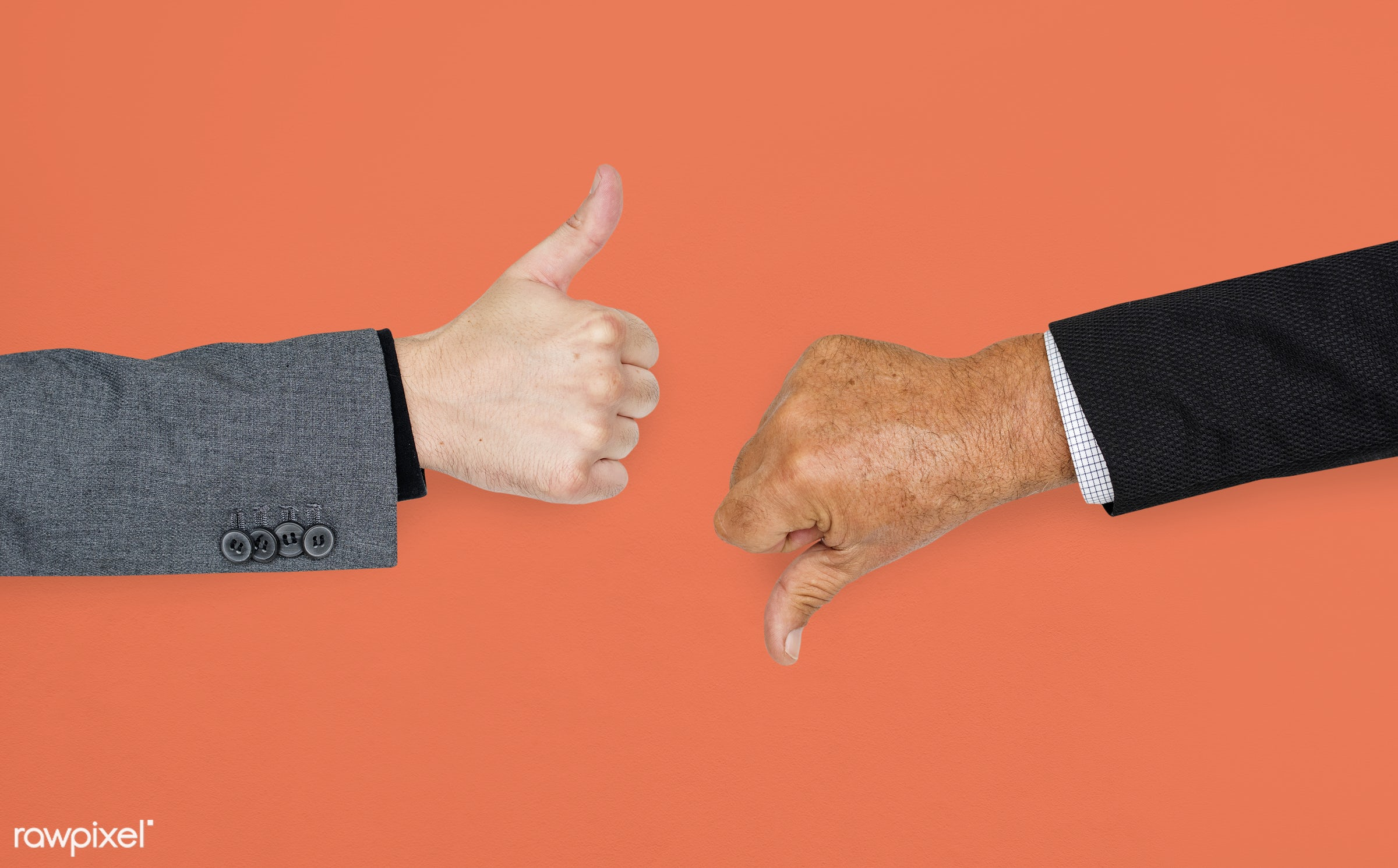 studio, expression, no, good, feedback, fail, awesome, ok, positive, cool, orange, isolated, approve, symbol, human hand,...