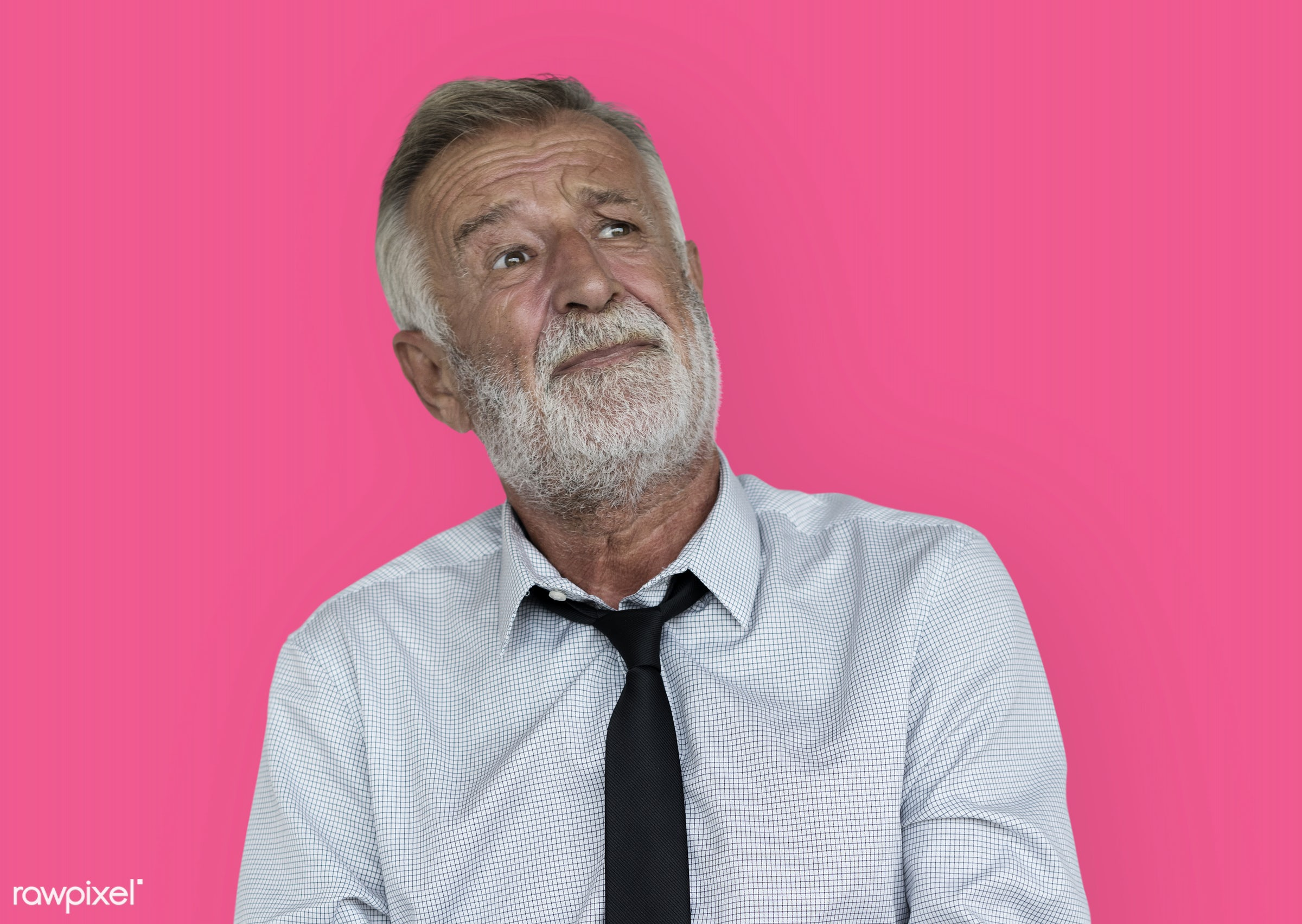 expression, intelligent, studio, face, person, vibrant, people, business, caucasian, modern, looking, concerned, pink,...