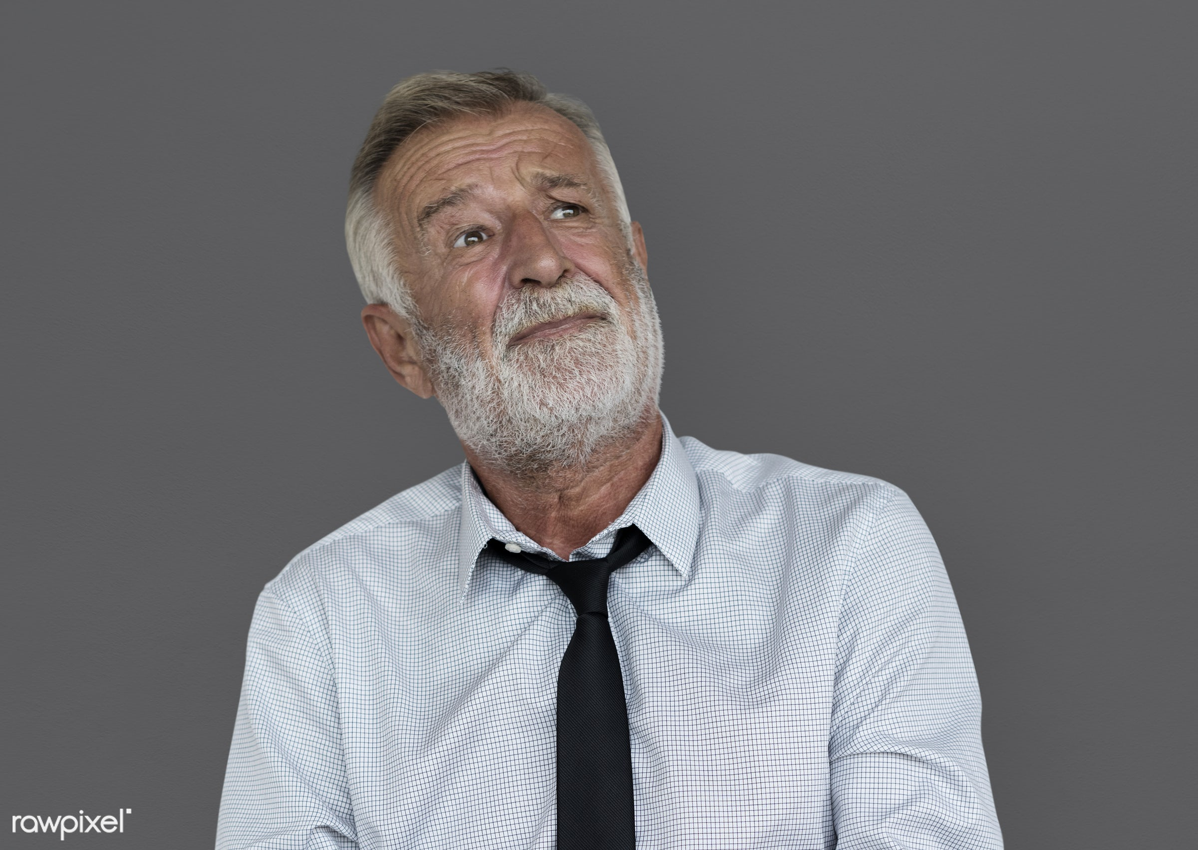 expression, intelligent, studio, face, person, people, business, caucasian, modern, looking, concerned, grey, serious,...