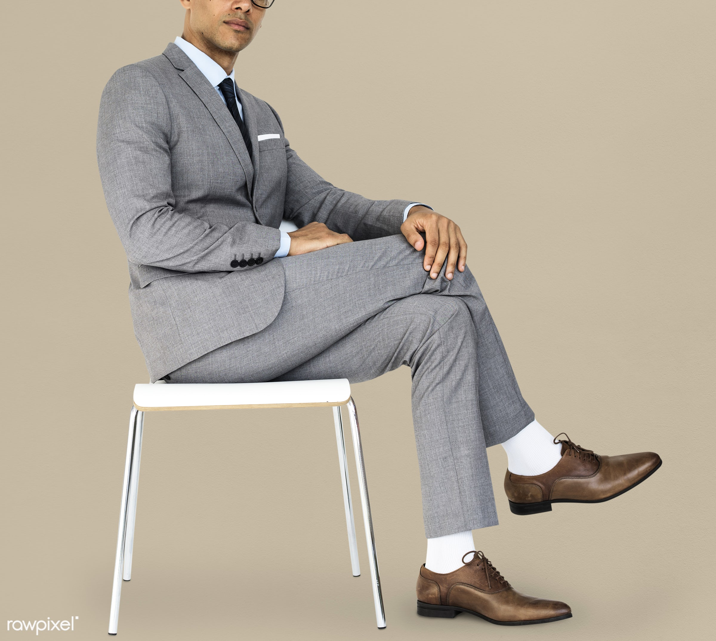 studio, expression, face, person, glasses, courage, carefree, people, business, businessman, fresh, casual, mixed race, man...