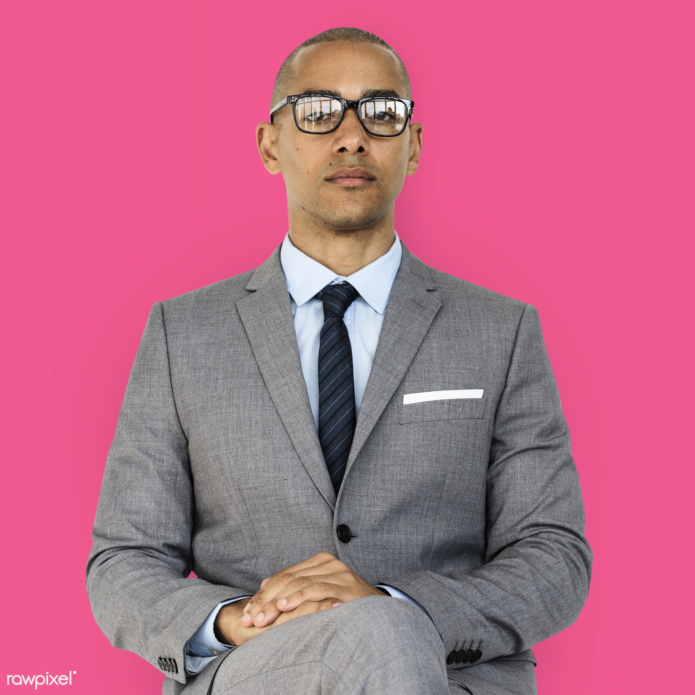 expression, studio, face, person, glasses, courage, carefree, people, business, businessman, fresh, casual, pink, mixed race...