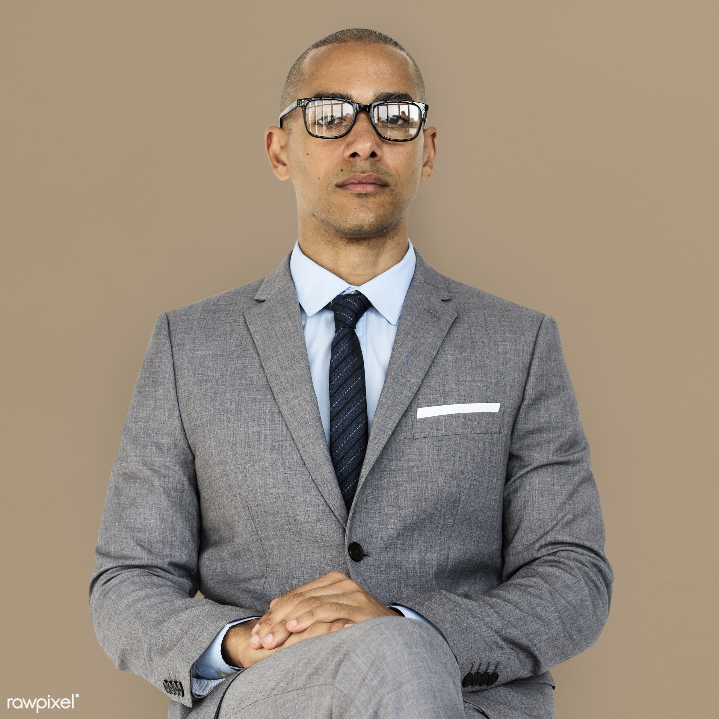 expression, studio, face, person, glasses, courage, carefree, people, business, businessman, fresh, casual, mixed race, man...