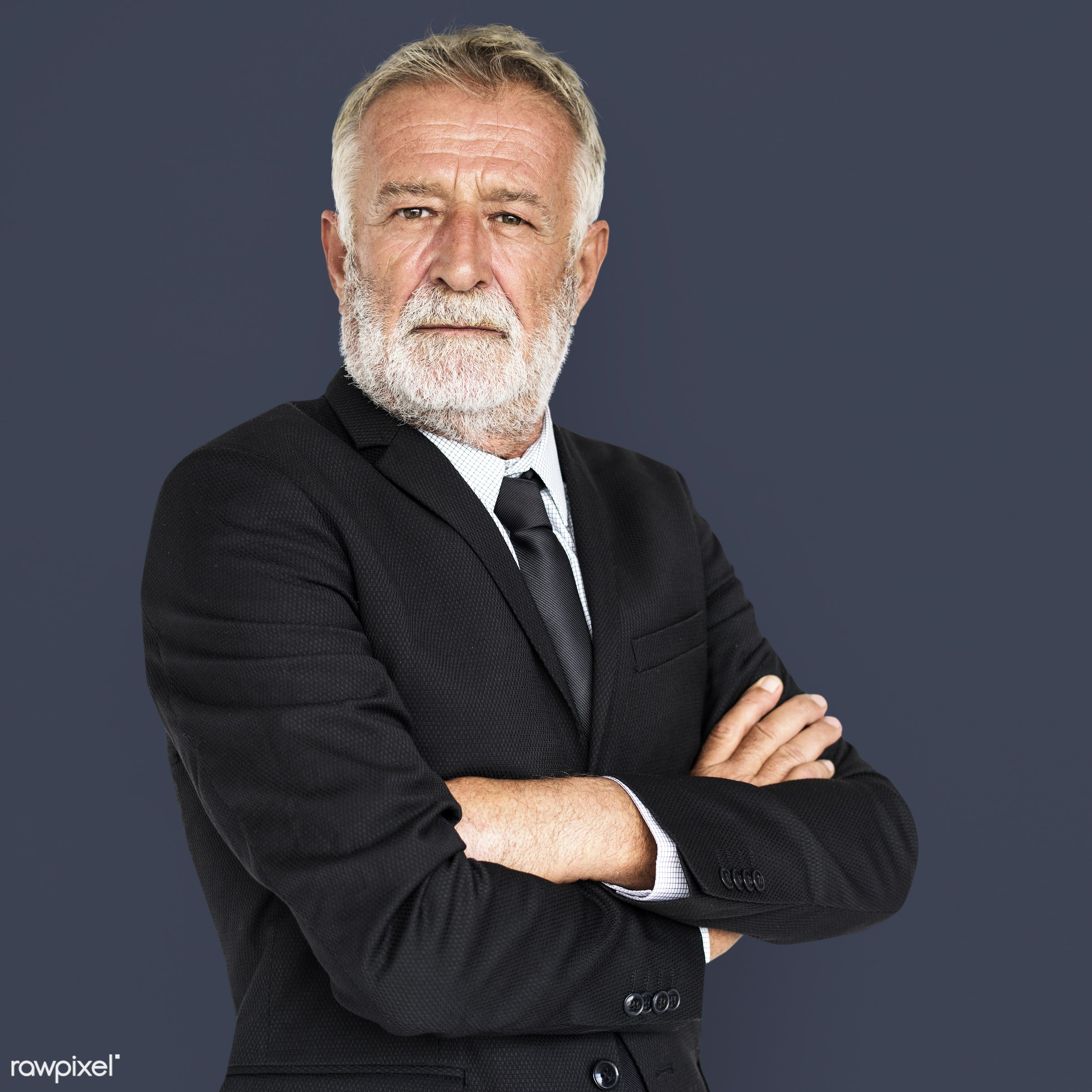 studio, intelligent, expression, person, wisdom, people, caucasian, serious, intelligence, isolated, portrait, grey hair,...