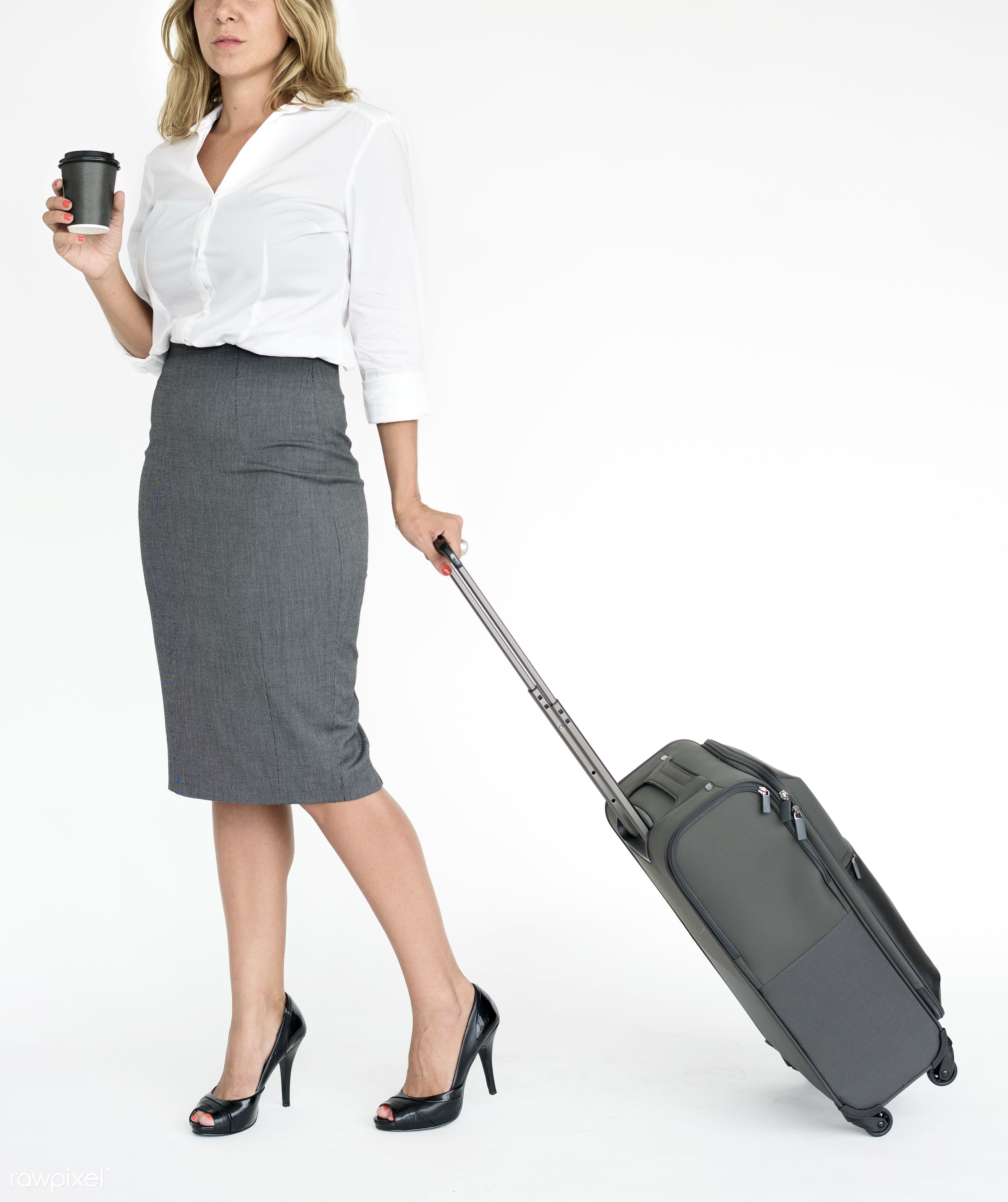 studio, baggage, expression, person, manager, full length, commuter, luggage, people, modelnationality, assistant, woman,...