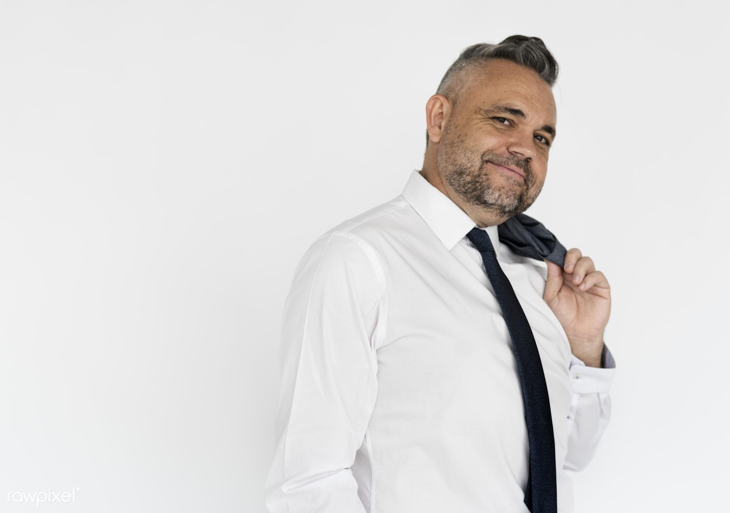 Portrait of a dapper businessman - studio, person, one, people, business, modern, businessman, style, attractive, positive,...