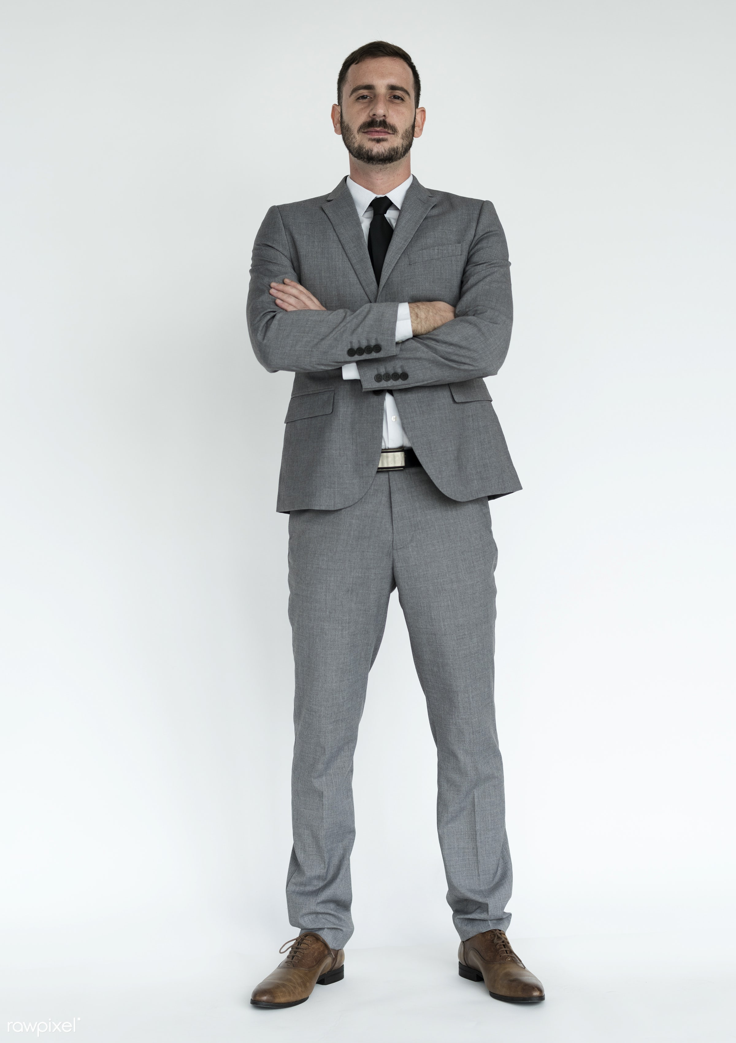 Businessman Adult Portrait Occupation Concept - studio, person, one, people, business, modern, businessman, style,...