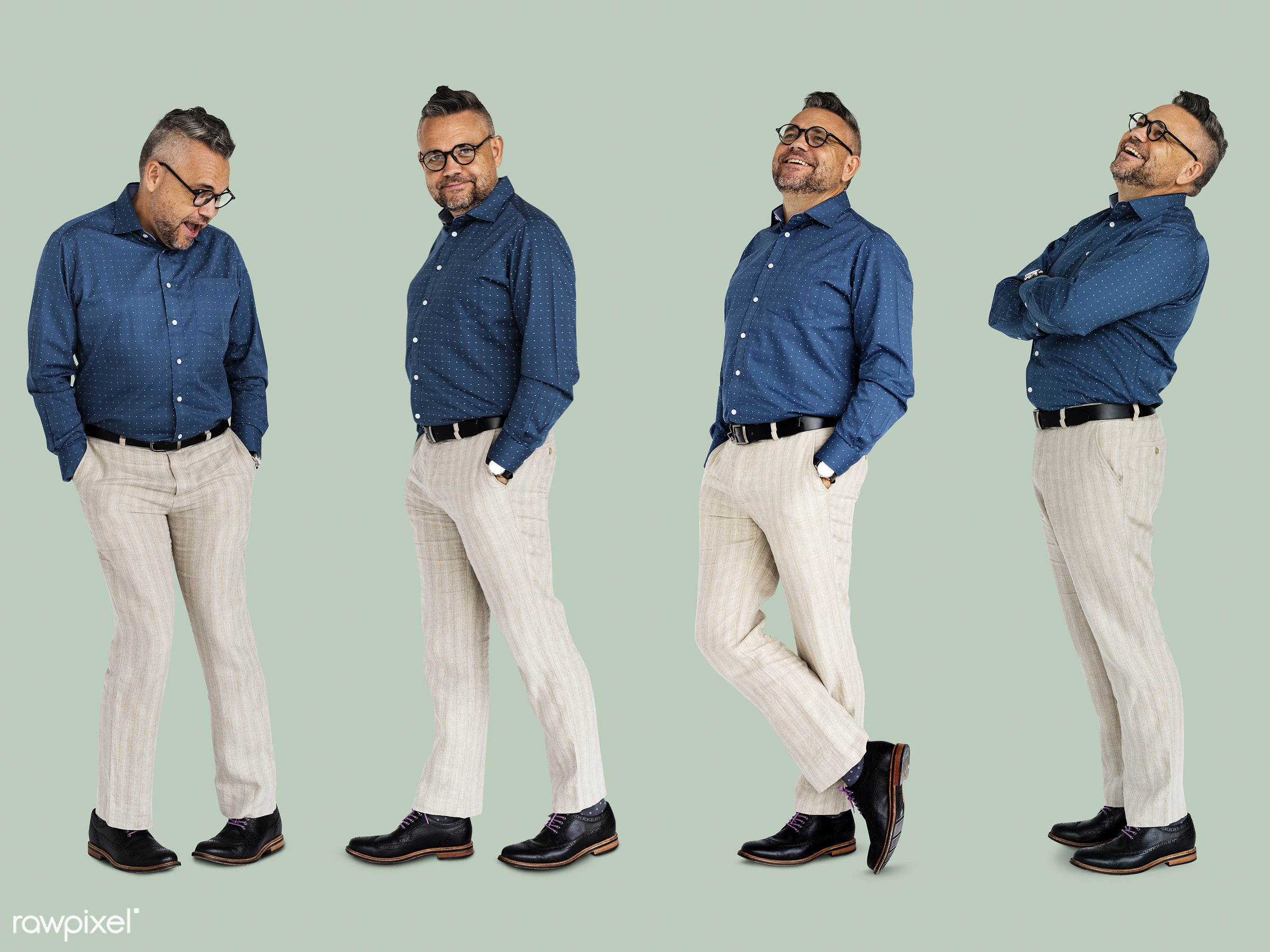 gentlemen, studio, person, glasses, diverse, relax, set, collection, people, hispanic, attraction, life, solo, attractive,...